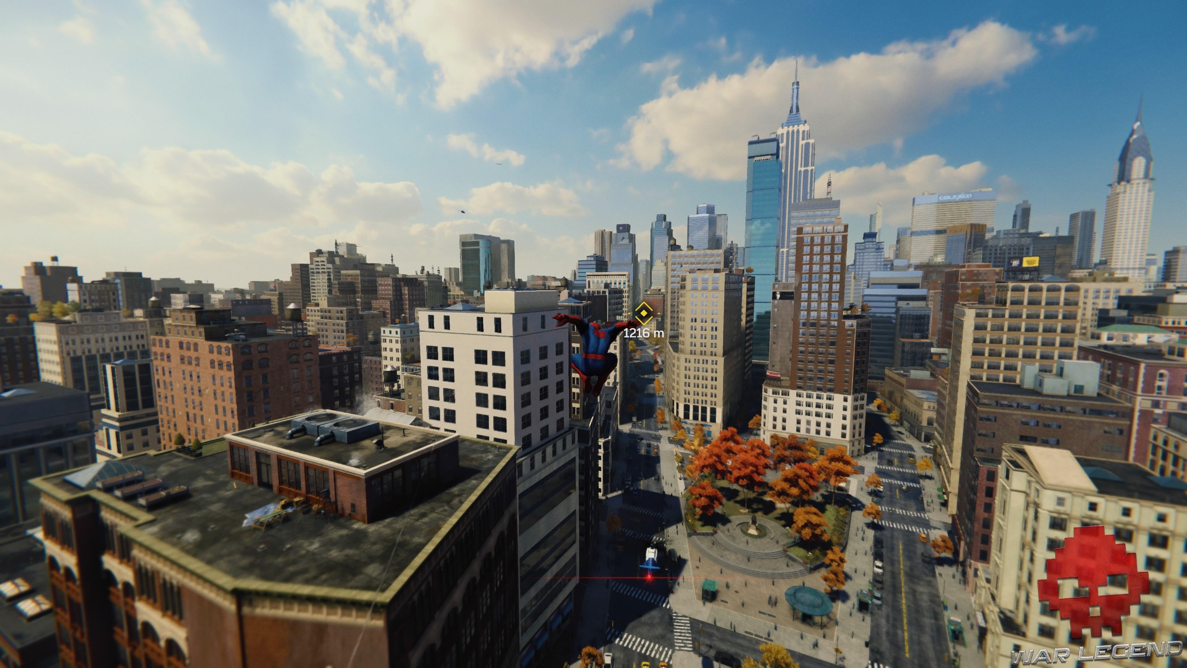 Spider-Man au dessus de Time Square
