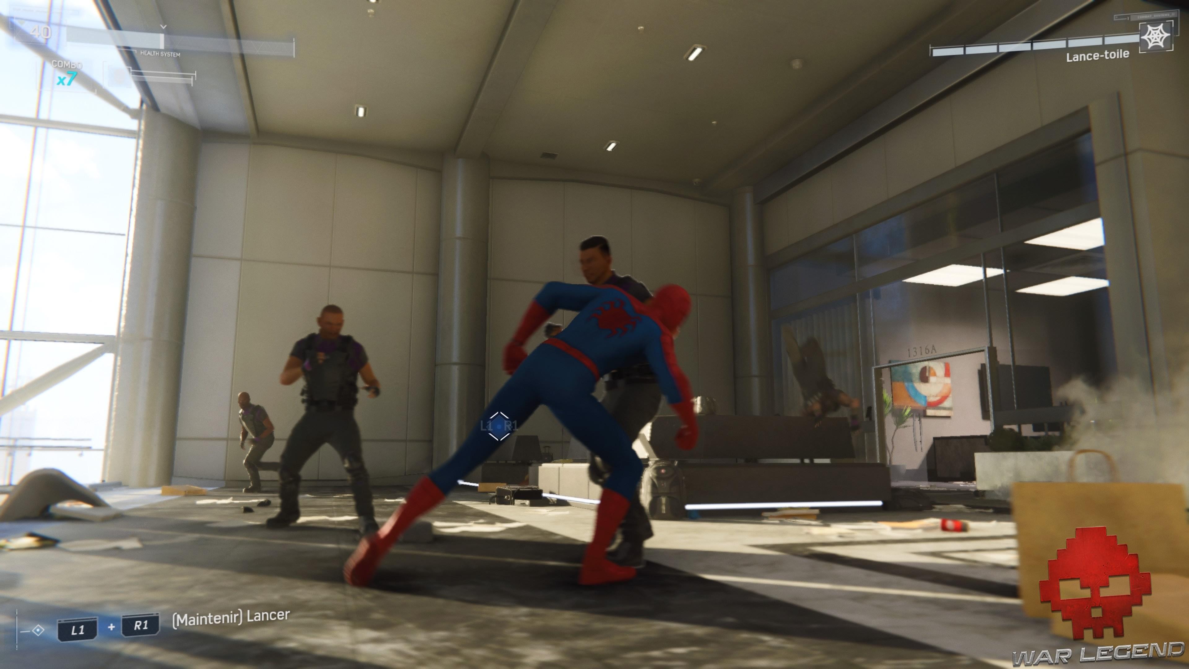 Spider-Man arrive au corps à corps
