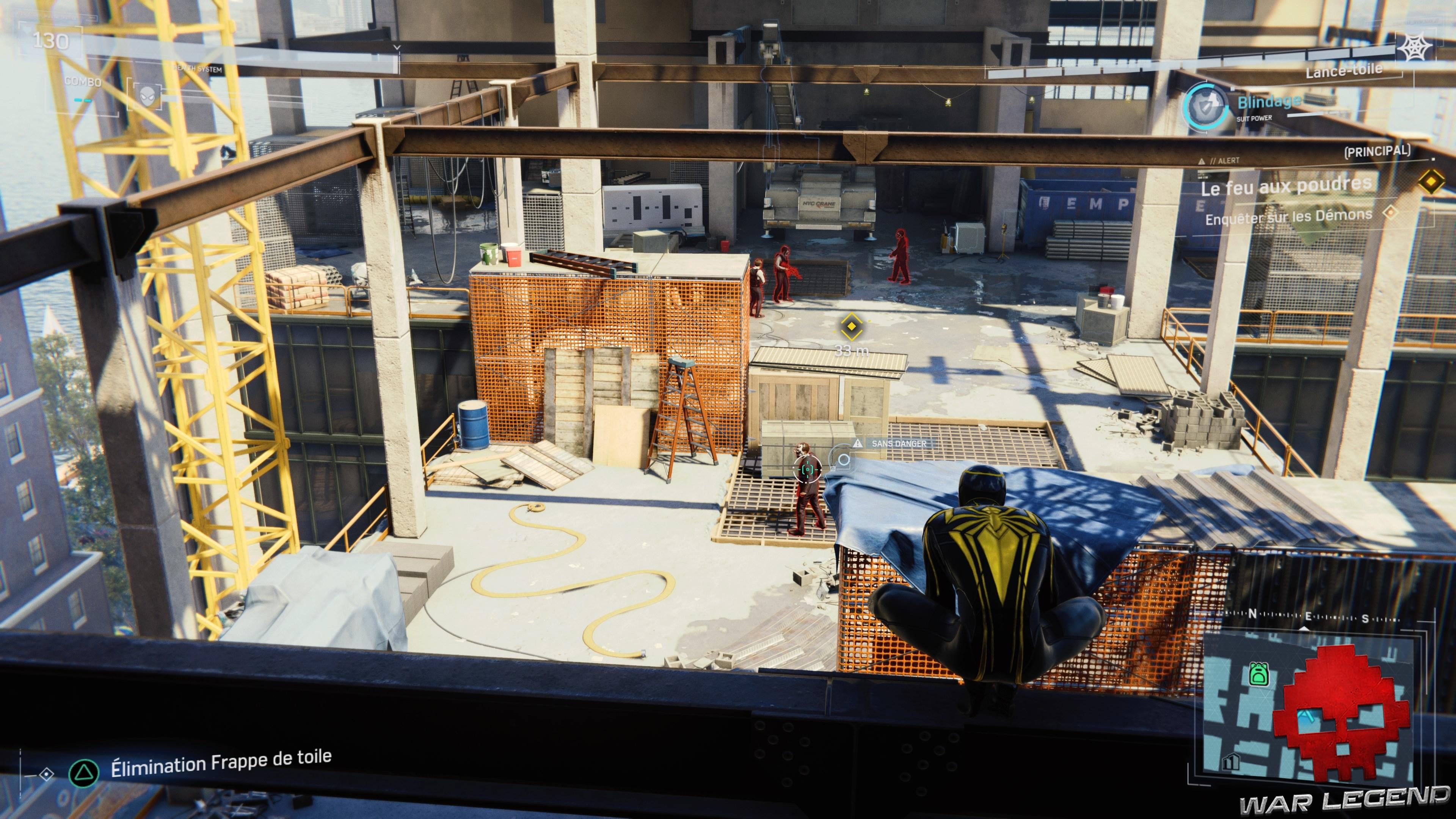 Vignette solution spider-man le feu aux poudres des criminels sont présents sur le chantier