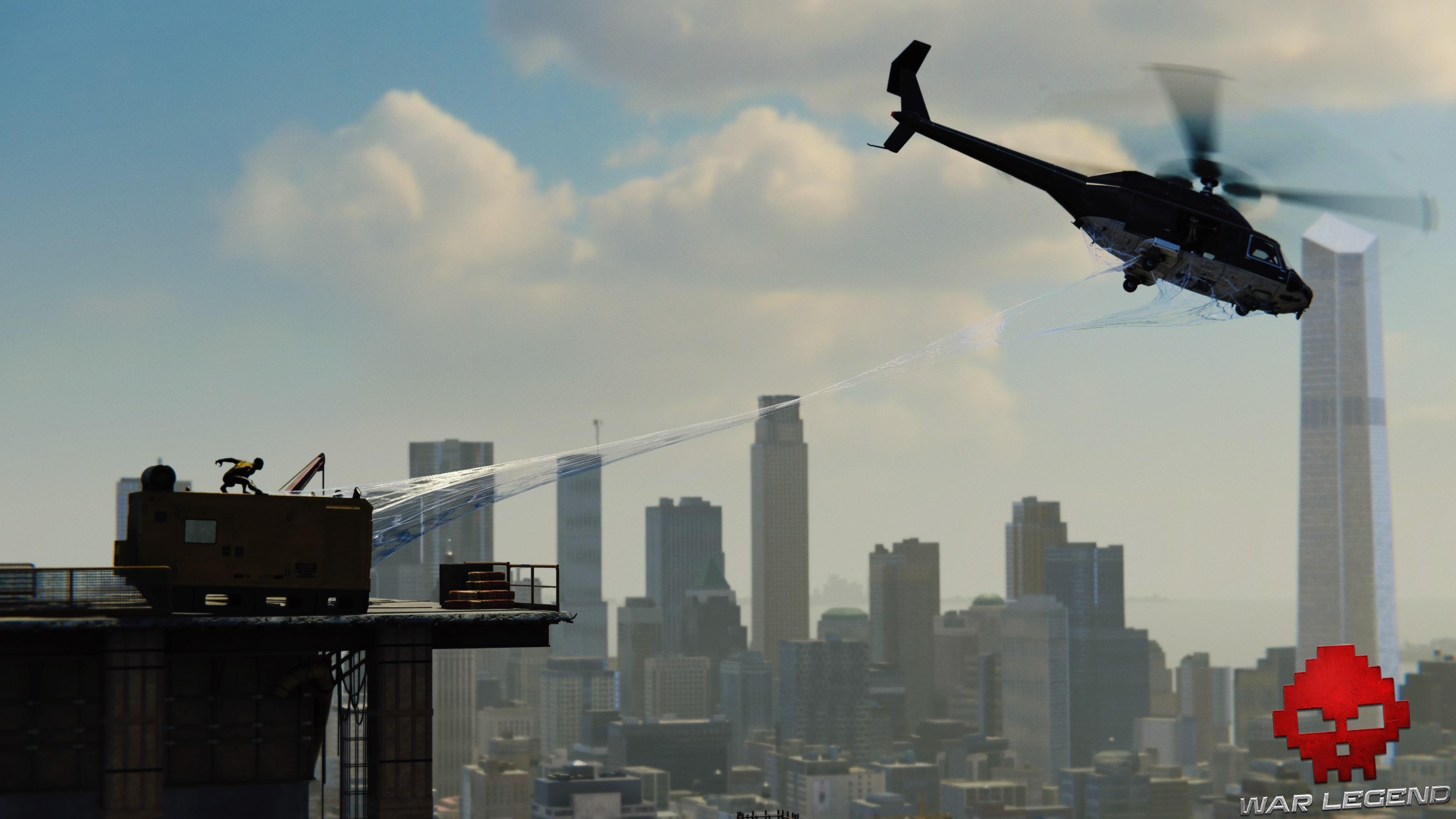 Vignette solution spider-man le feu aux poudres Spiderman entoile un hélicoptère