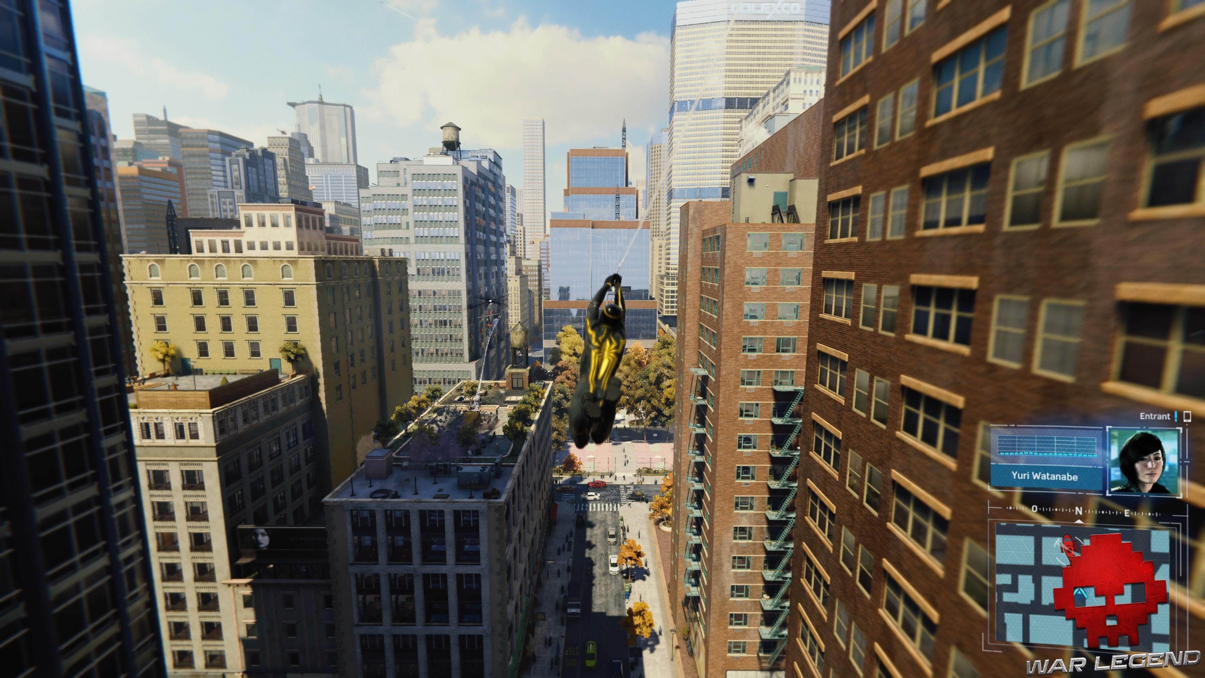Vignette solution spider-man le feu aux poudres Spiderman se balance au dessus de New York