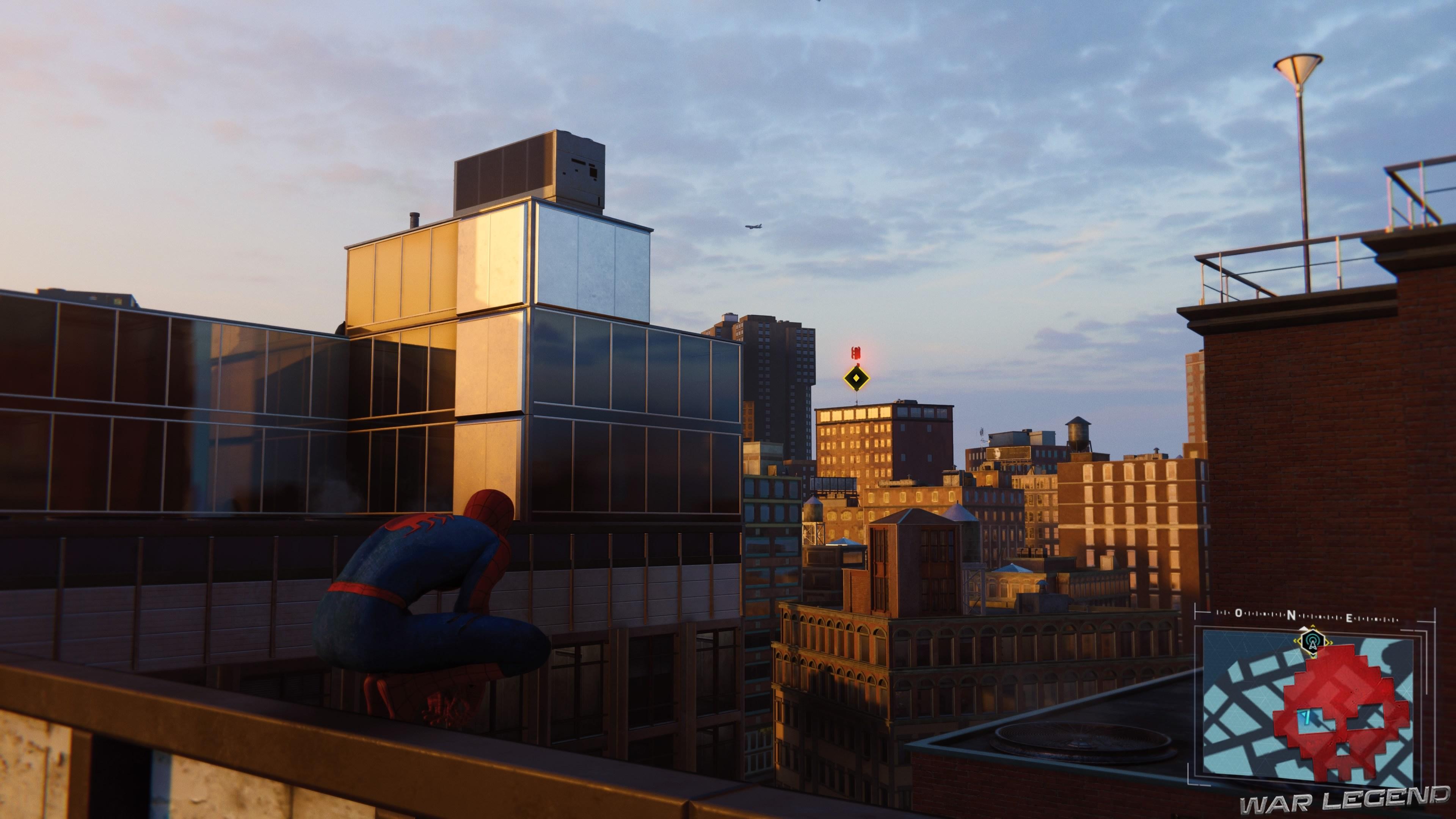 Spider-Man repère une tour au loin