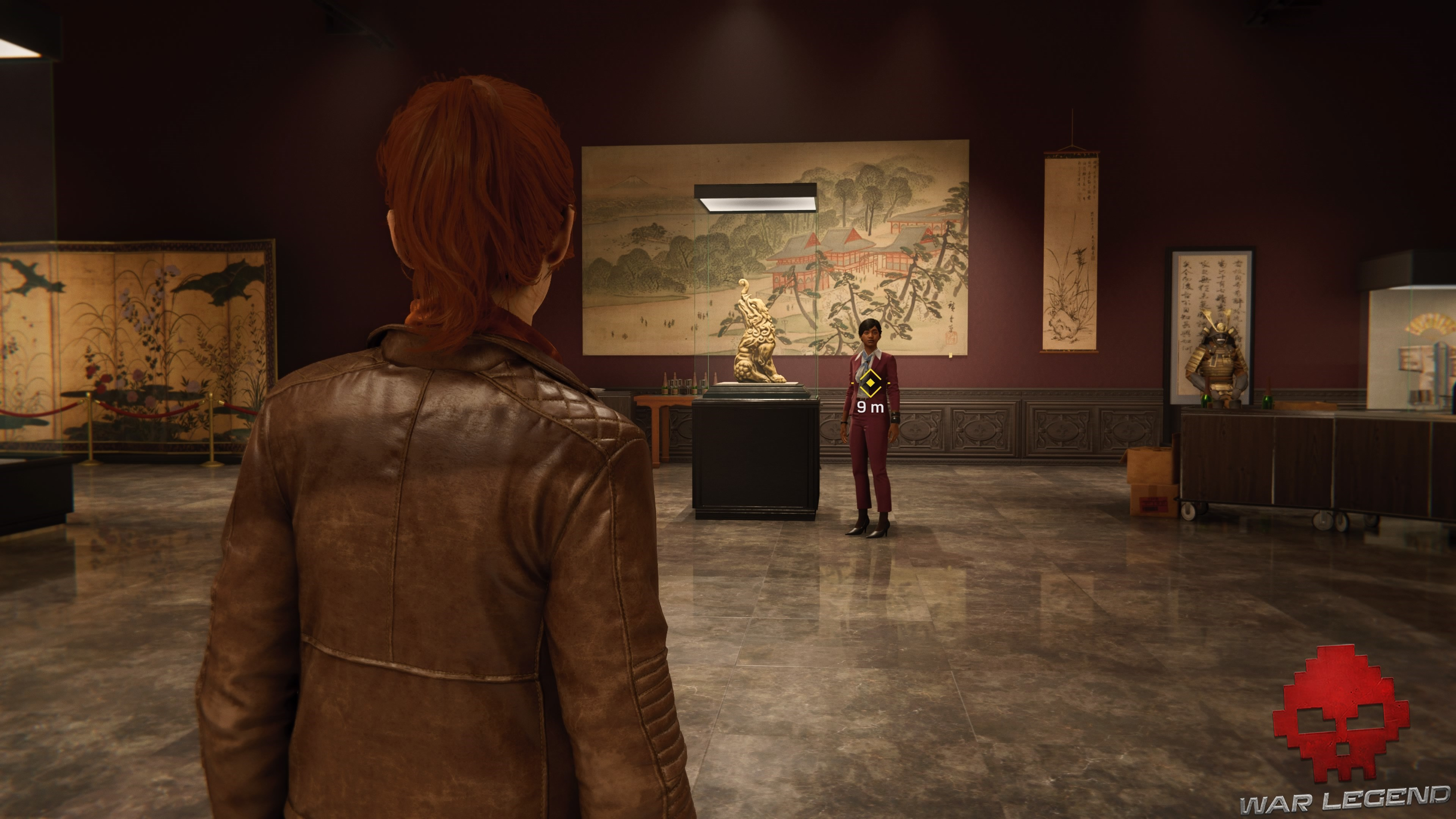 Le joueur joue Marie-Jane