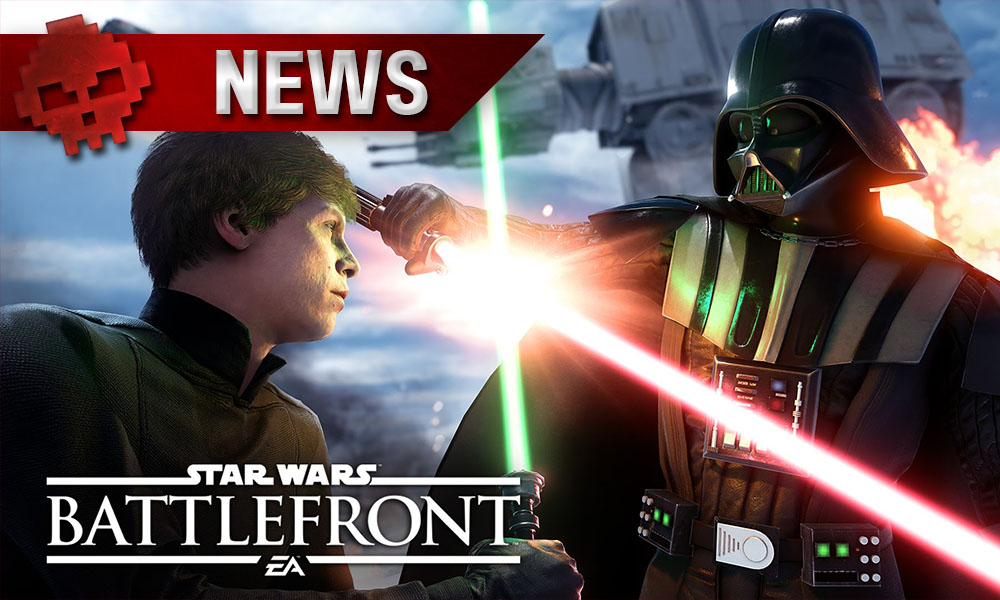Star Wars: Battlefront - L'extension de L'Étoile de la Mort gratuite ce week-end Luke Skywalker et Dark Vador s'affrontant au sabre laser