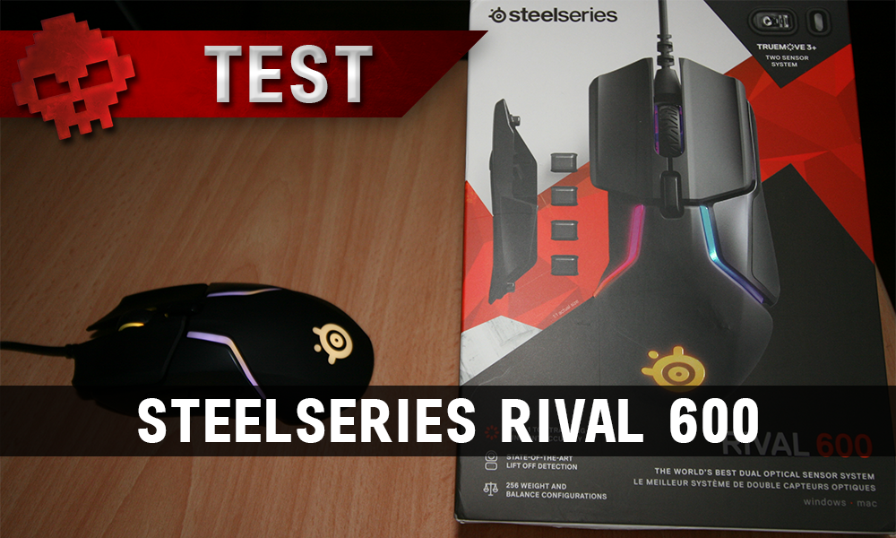 La SteelSeries Rival 600 et sa boîte
