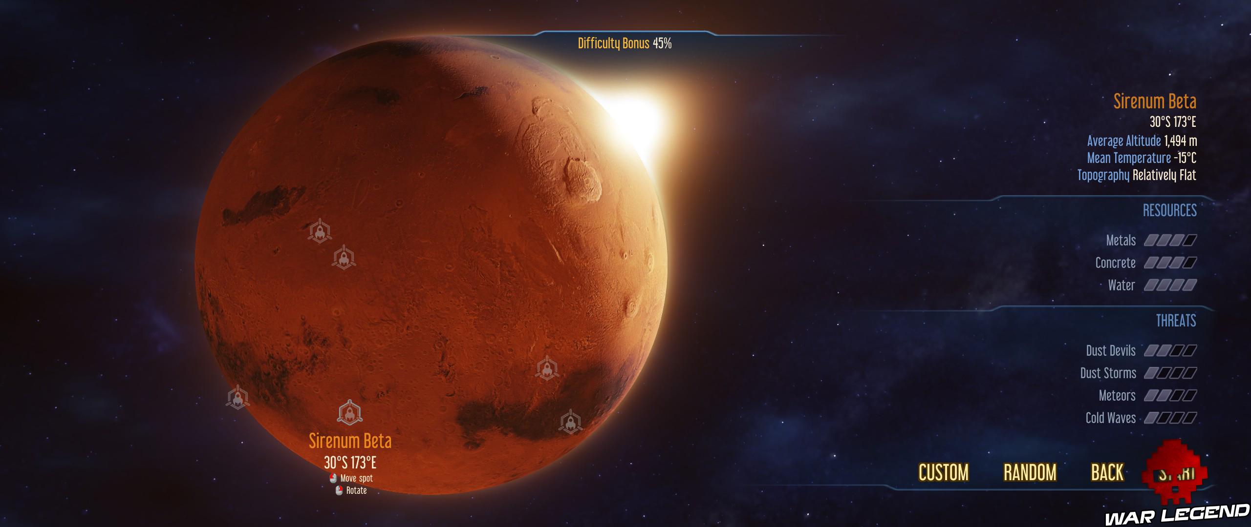 Guide du débutant Surviving Mars planète Mars