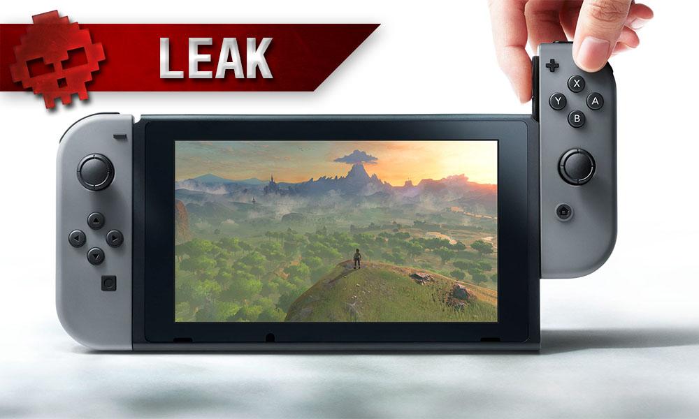 Nintendo Switch - Les accessoires et leur prix ont fuité Console