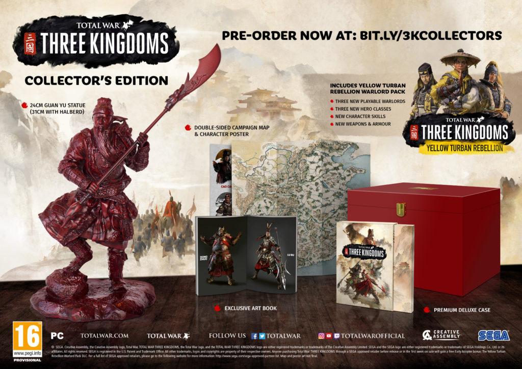 contenu édition collector Total War Three Kingdoms