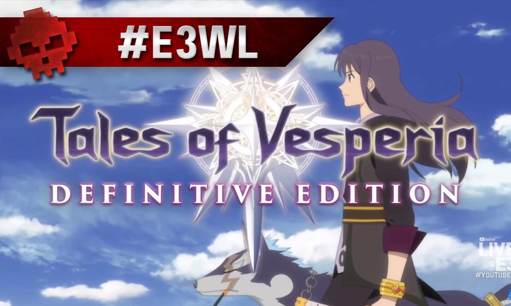 Tales of Vesperia logo Yuri et Repede en fond