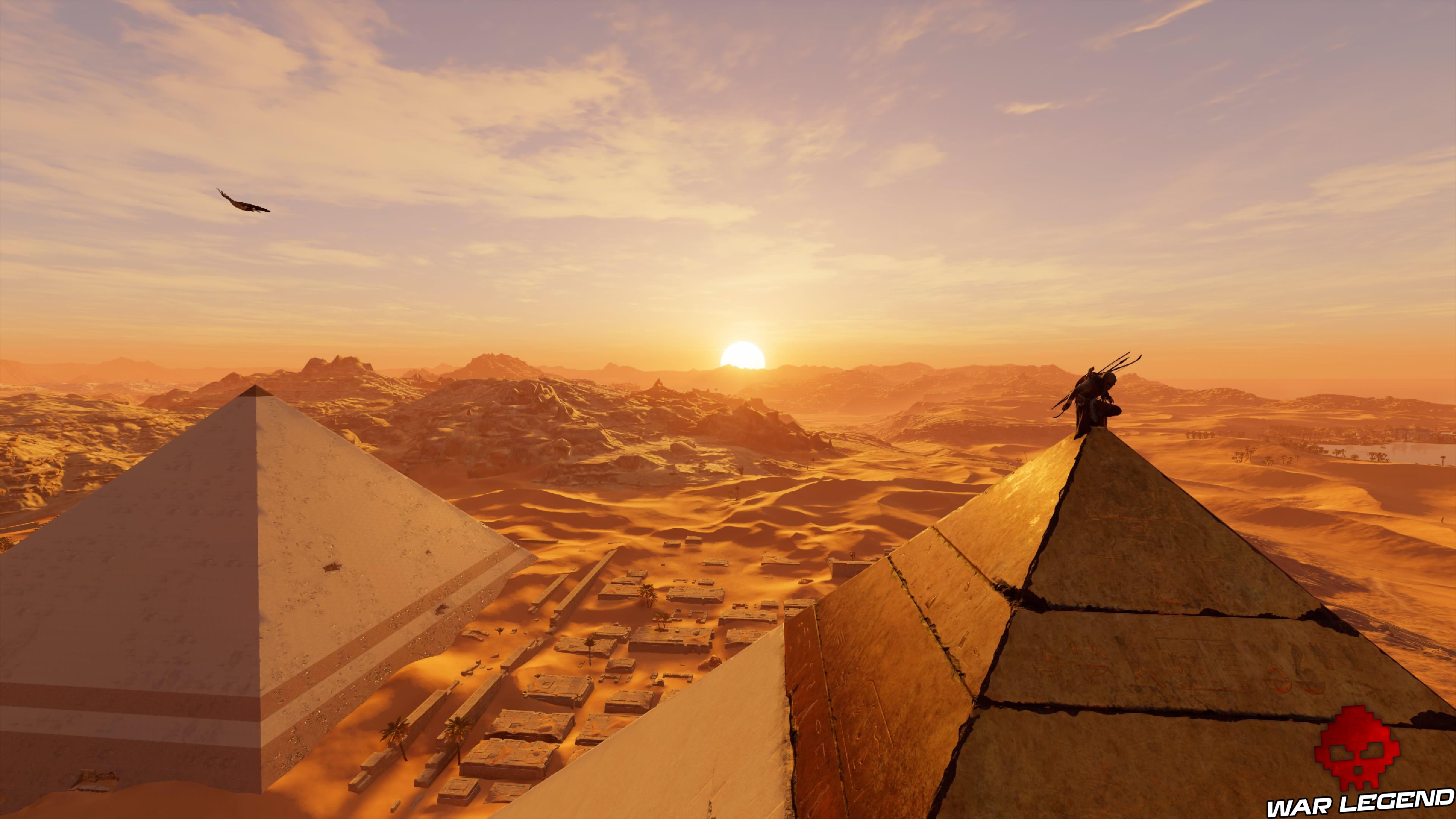 pyramides coucher de soleil