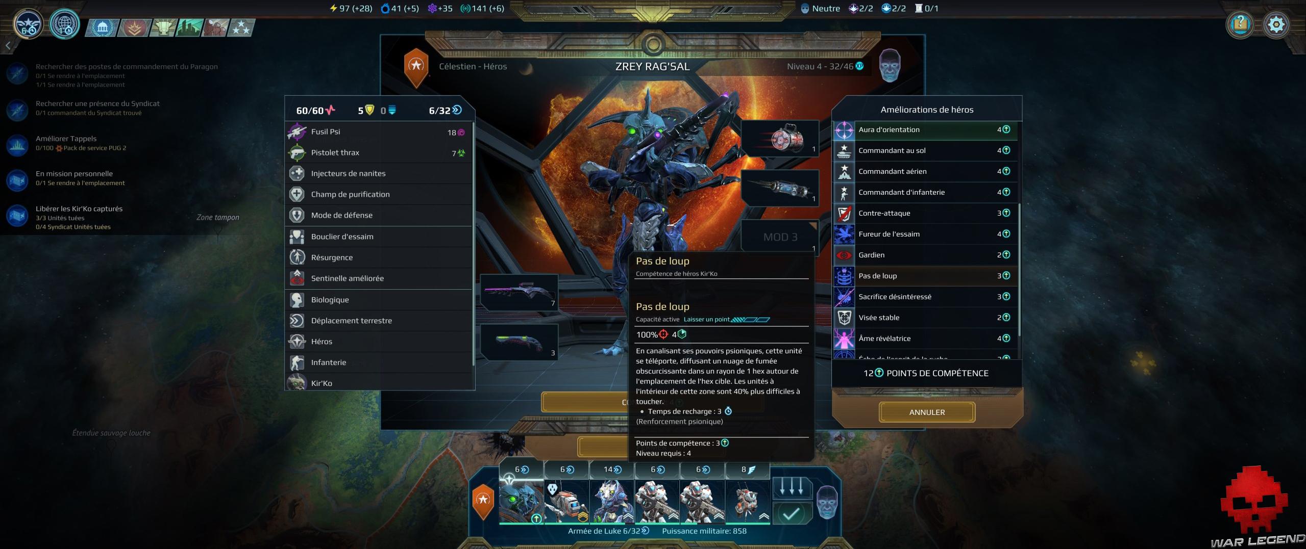 Test Age of Wonders Planetfall montée de niveau héros