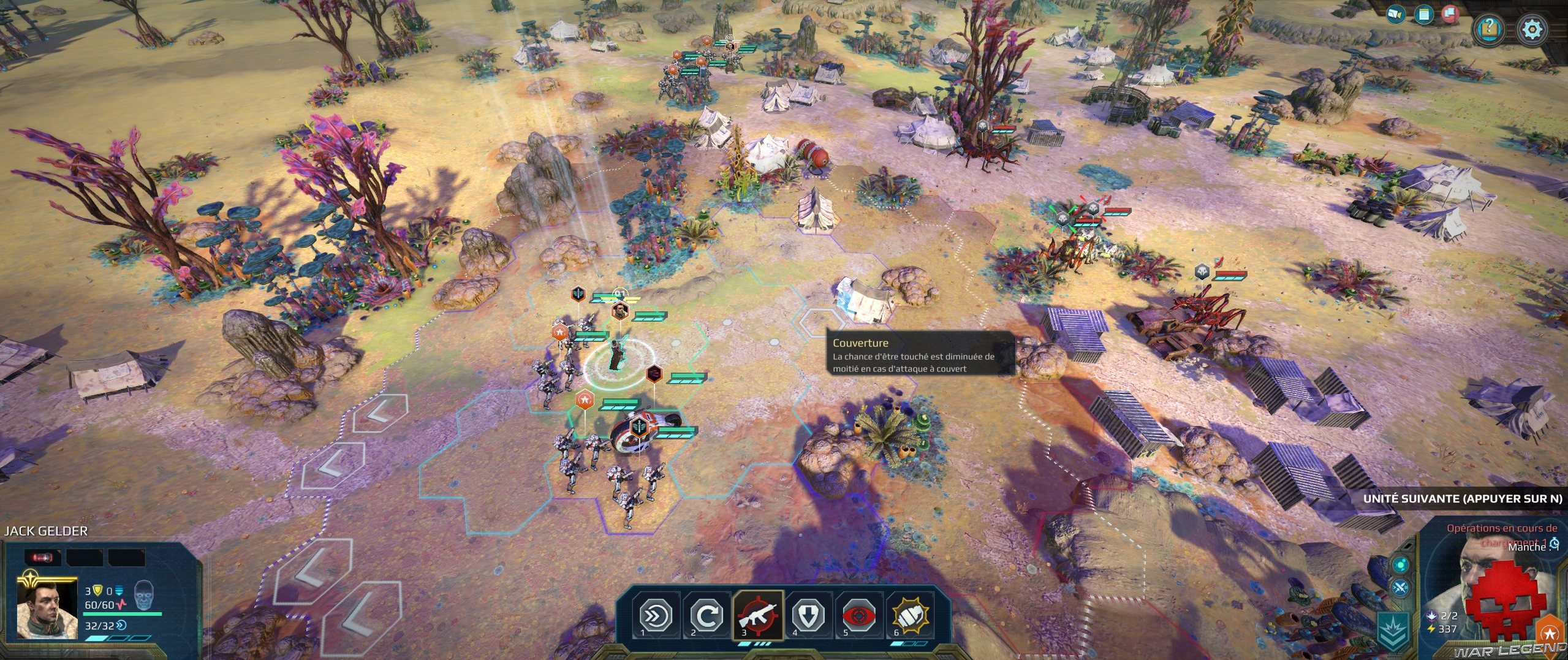 Test Age of Wonders Planetfall combat 3 armées contre 1