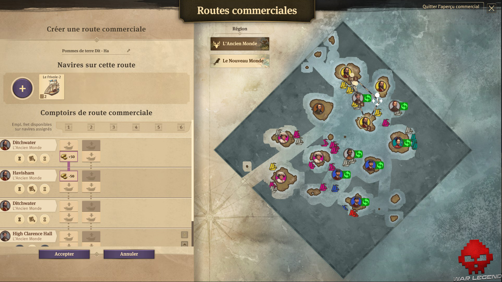 Test Anno 1800 routes commerciales