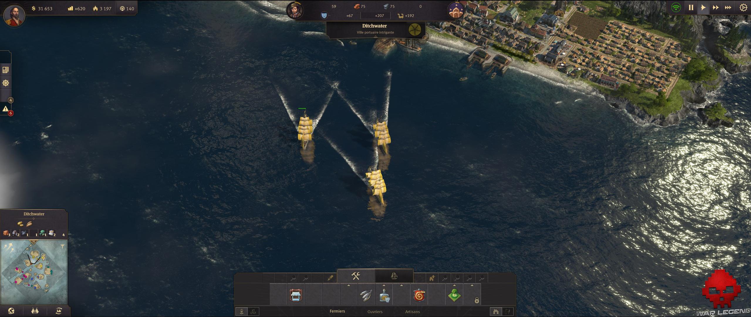 Test Anno 1800 flotte