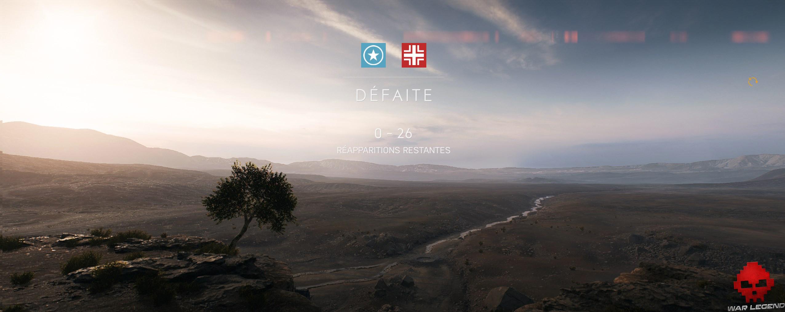 Test Battlefield V - Écran de fin de partie