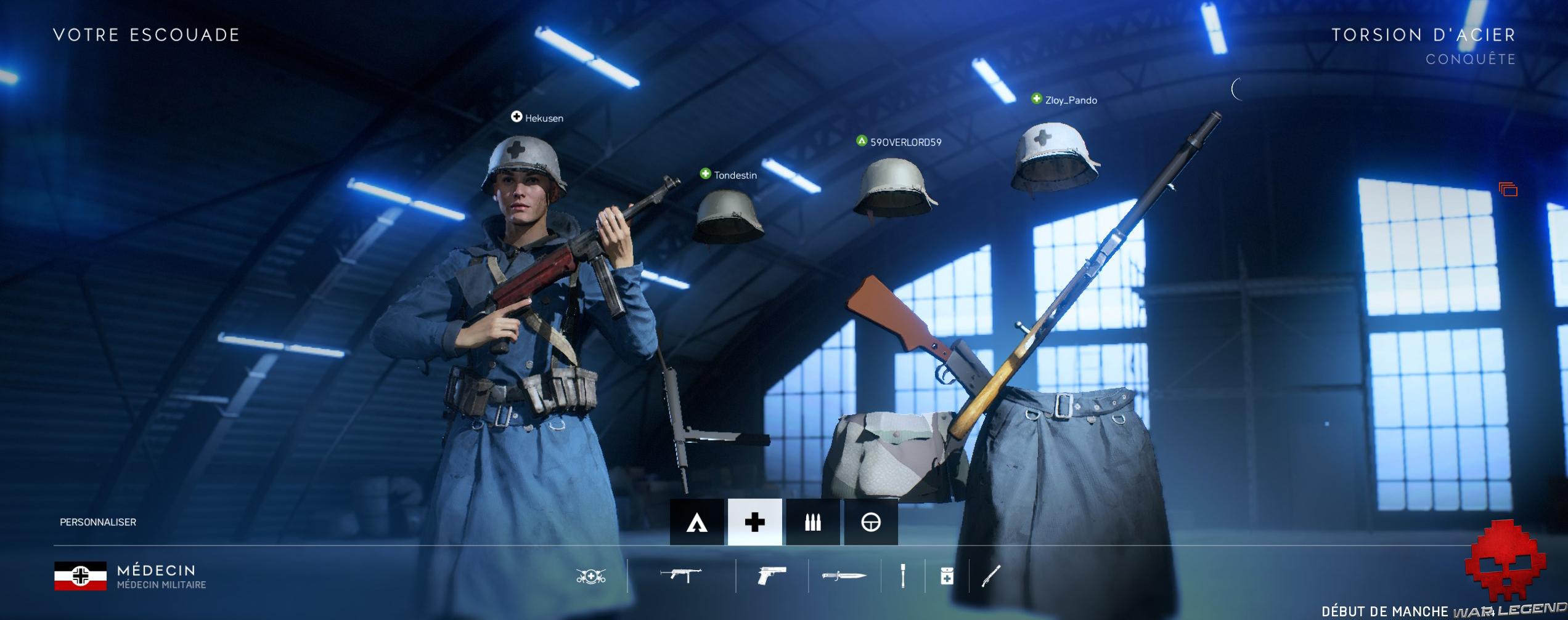 Test Battlefield V - Bug affichage écran de personnages