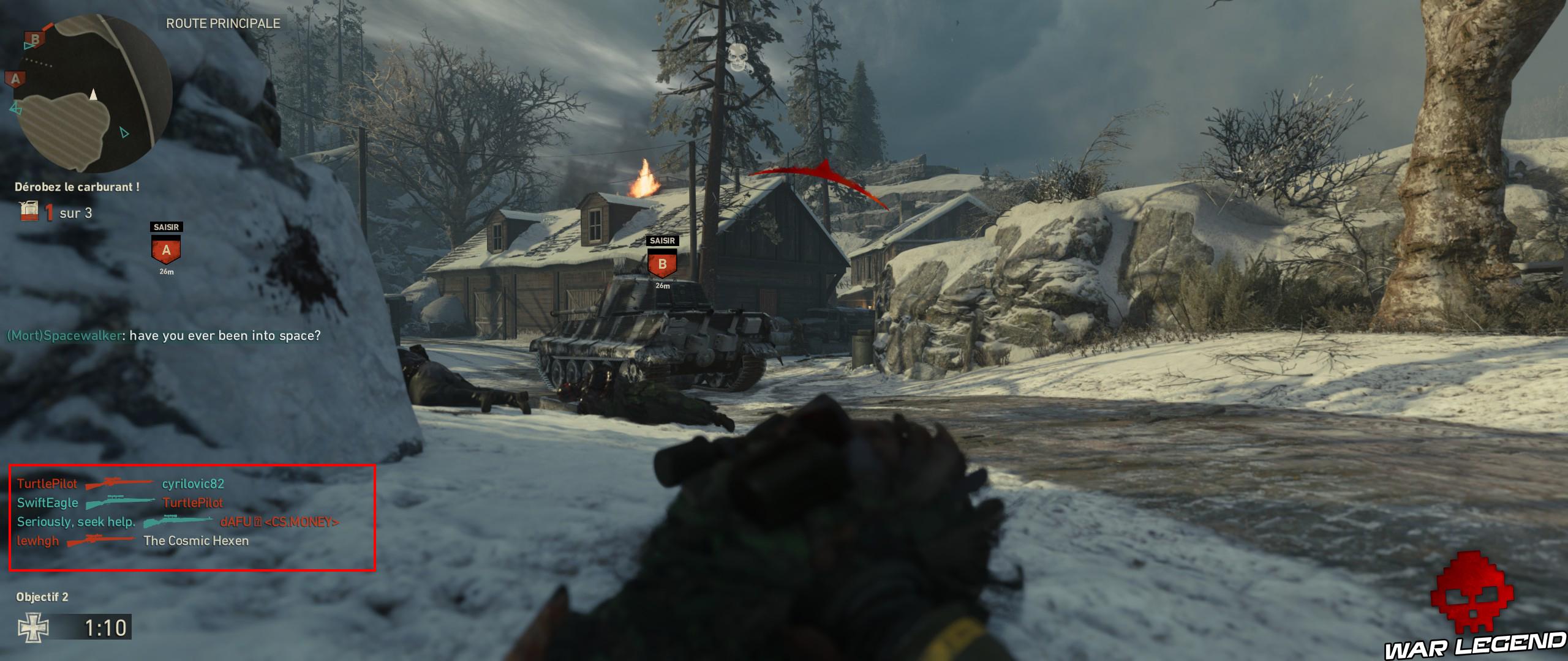 rectangle rouge sur tableau des kills avec présence exclusive de snipers