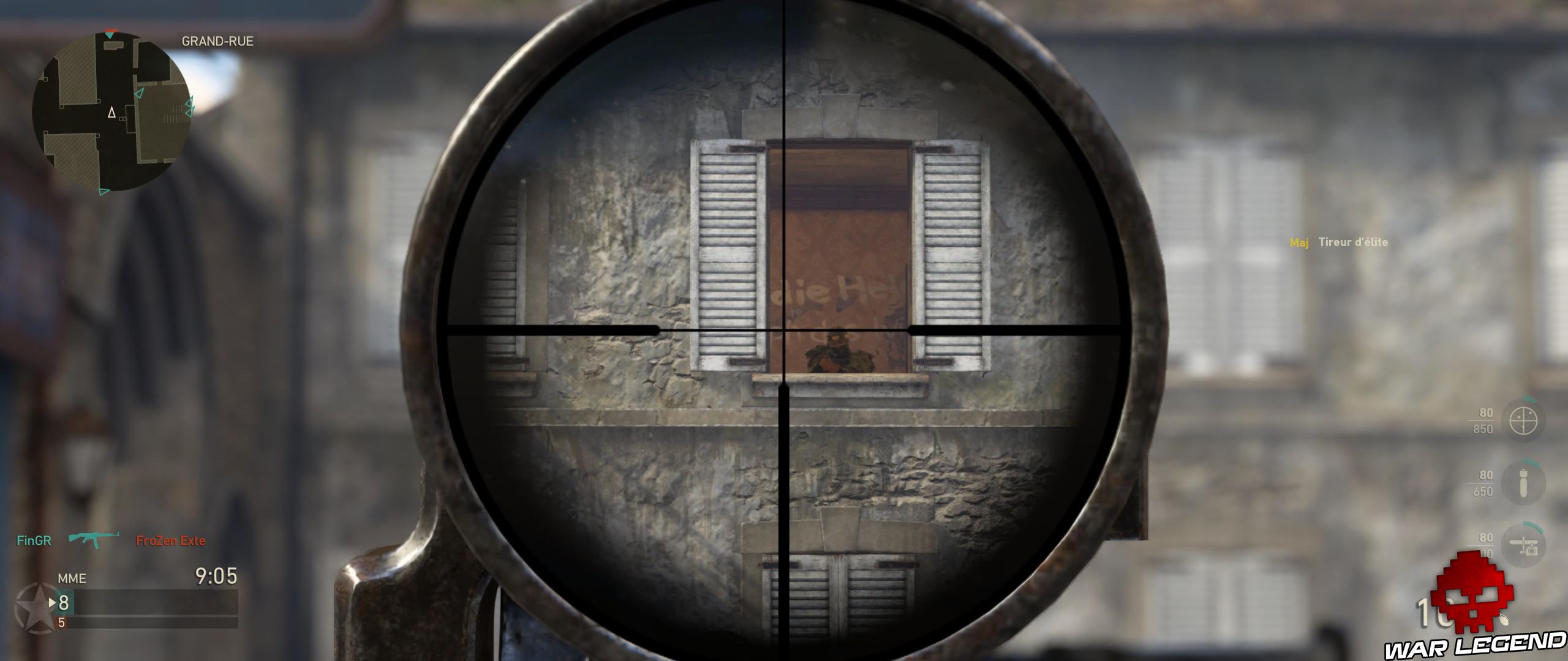 viseur de sniper sur tête de soldat nazi