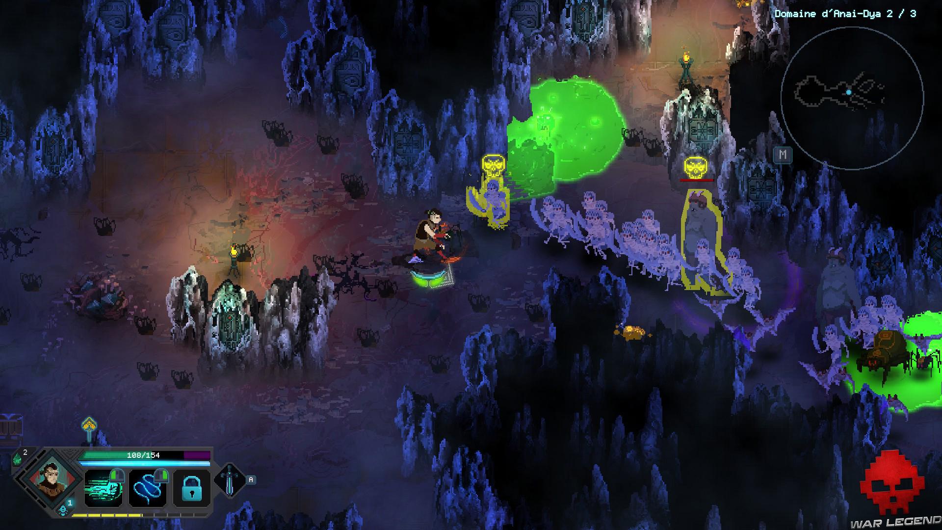 Test Children of Morta - Mark face à une horde squelette