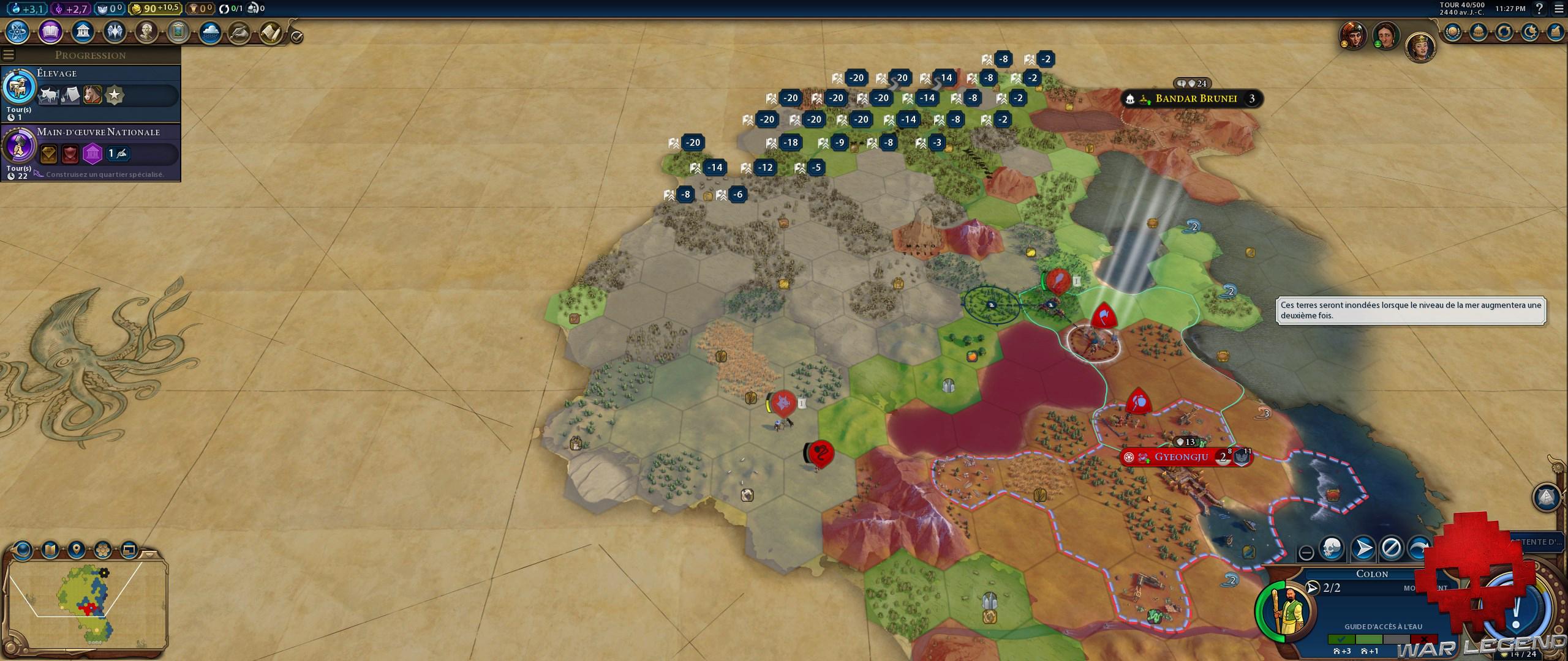 Test Civilization VI Gathering Storm carte fondation de ville