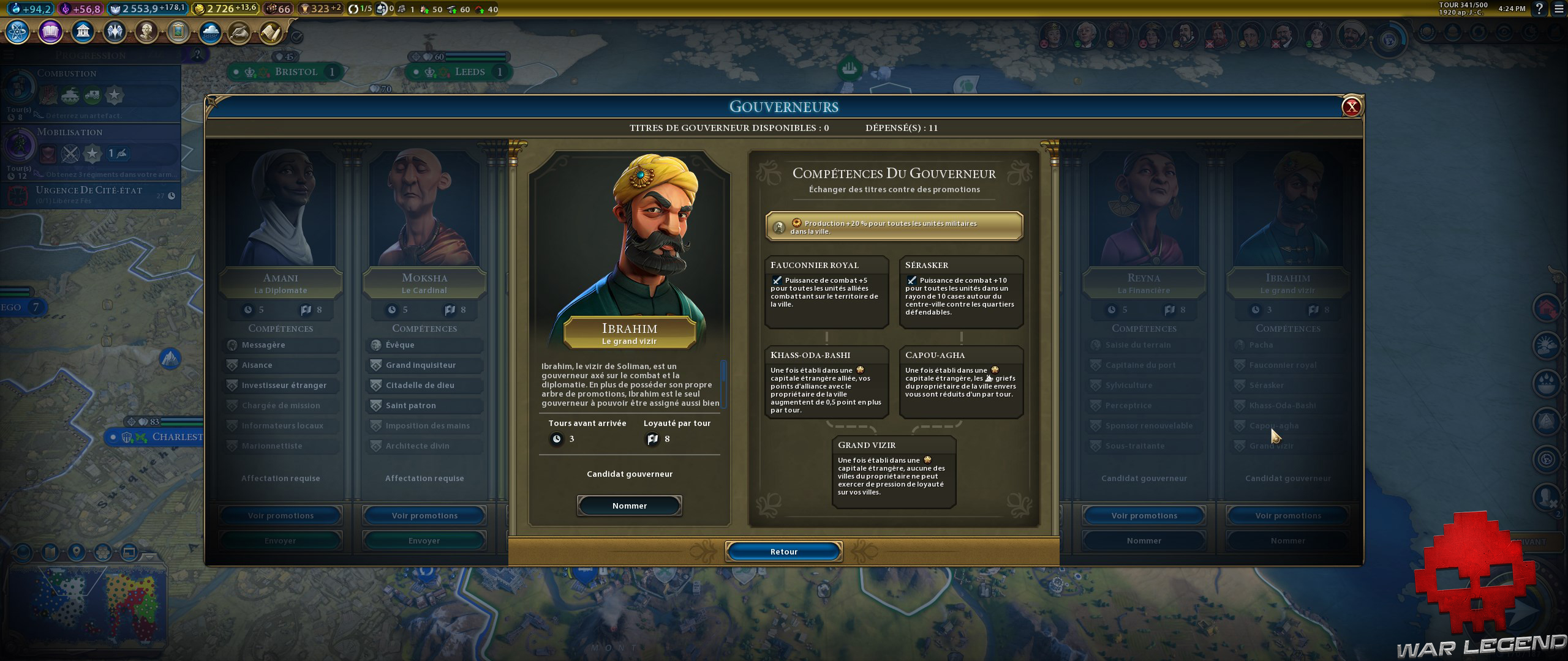 Test Civilization VI Gathering Storm gouverneur exclusif Soliman Ier