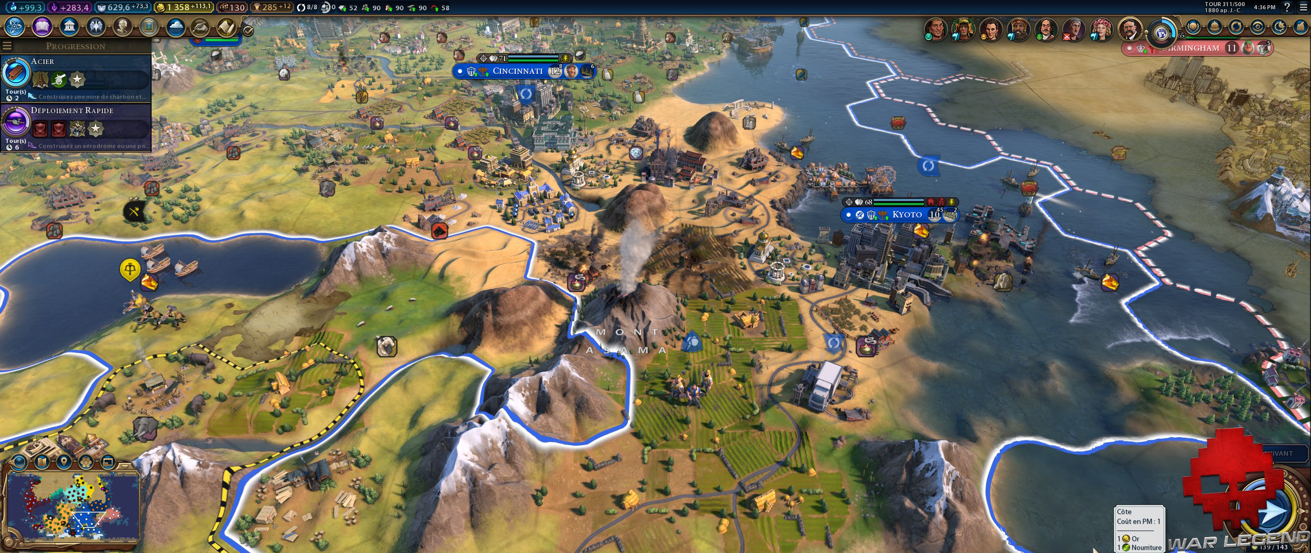 Test Civilization VI Gathering Storm volcan actif