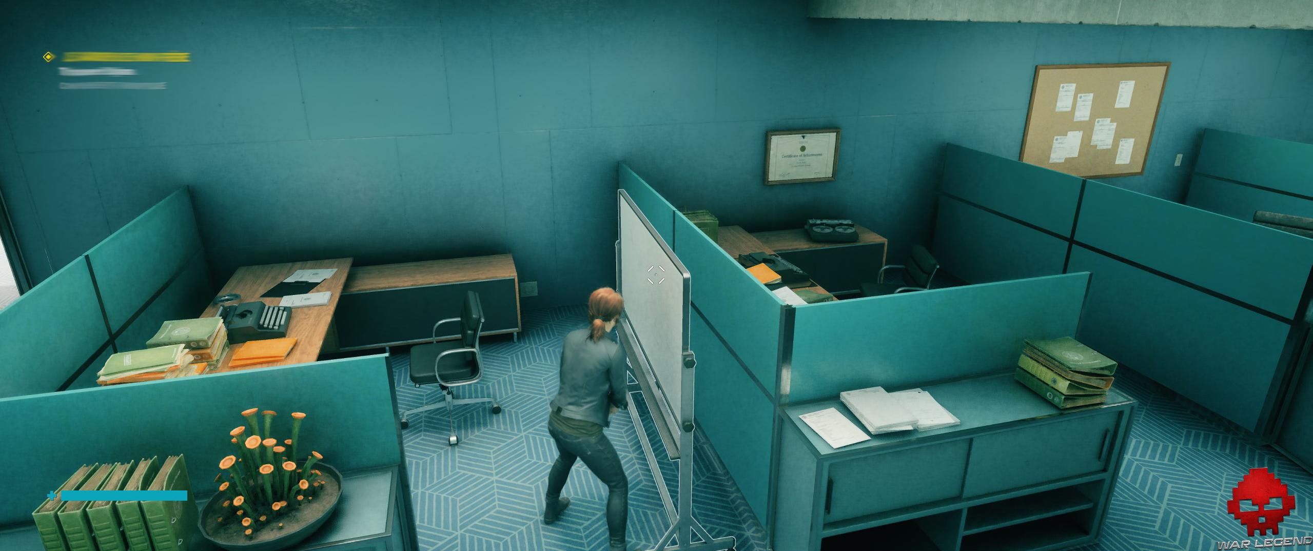Test Control - bureaux, ombres de contact avec DXR