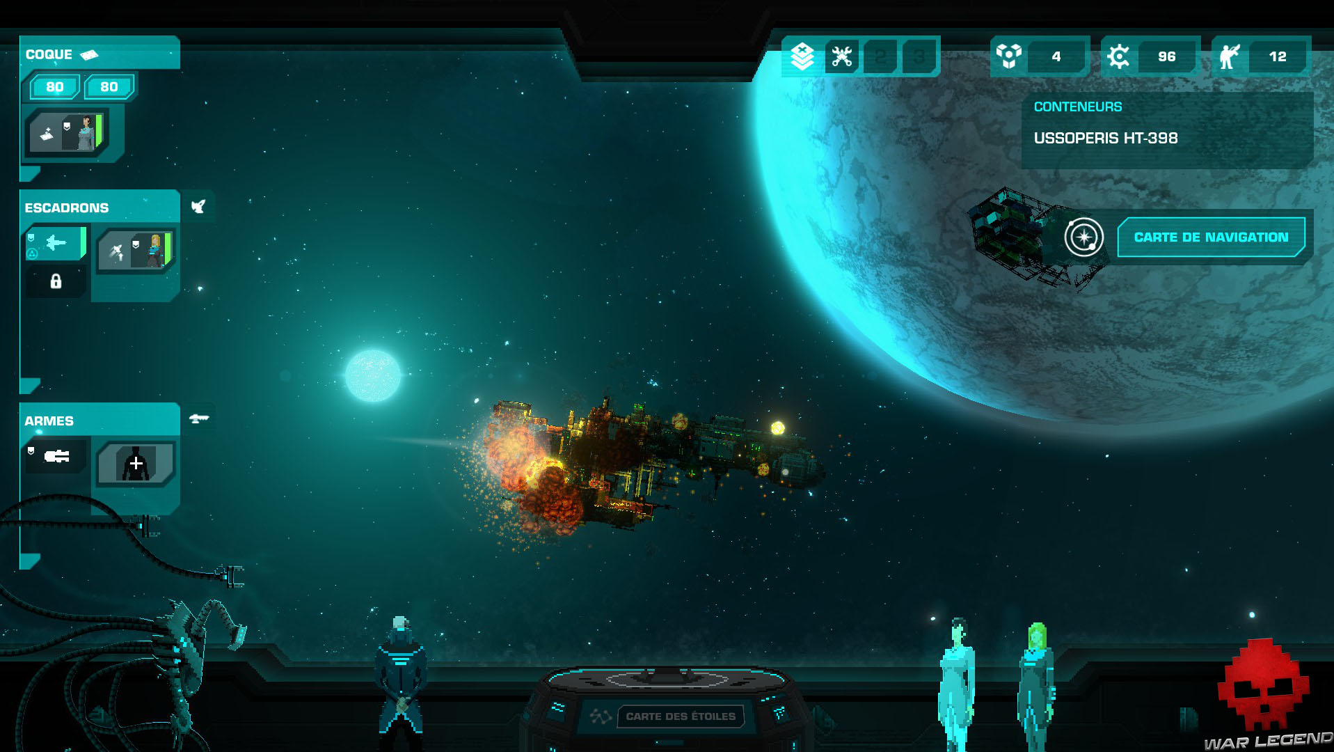 Test Crying Suns 7 - vaisseau détruit