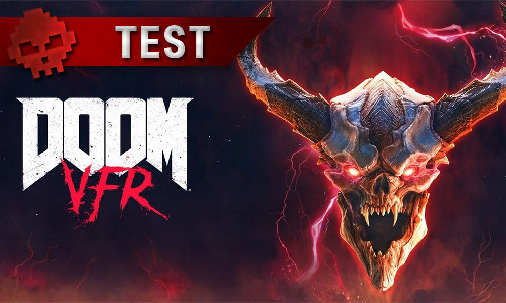 test doom vfr logo du jeu + démon