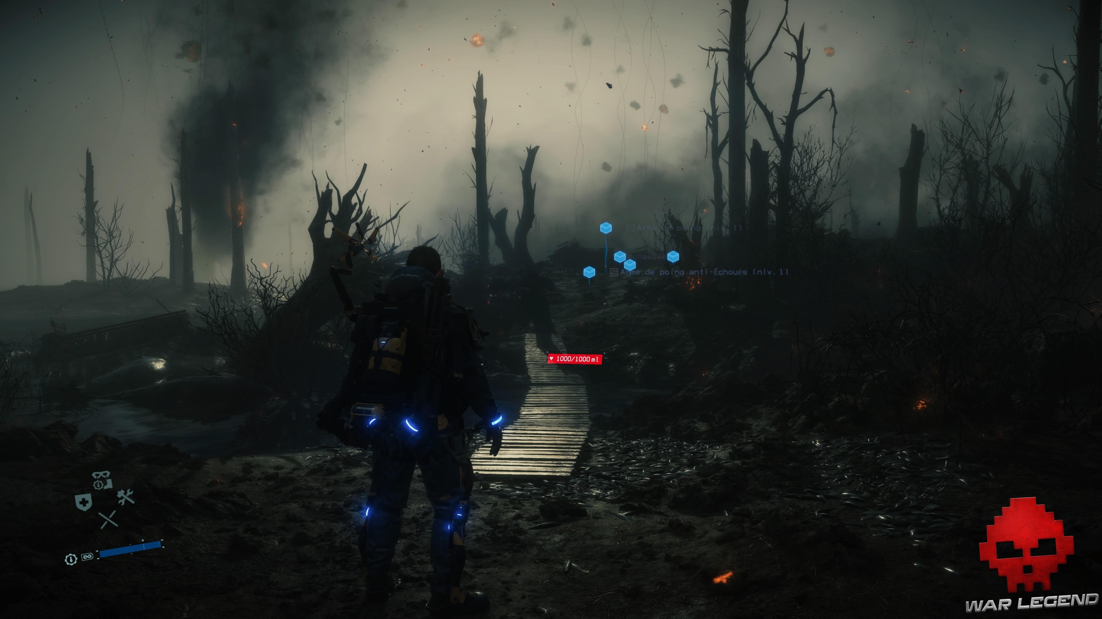 Test Death Stranding - champ de bataille