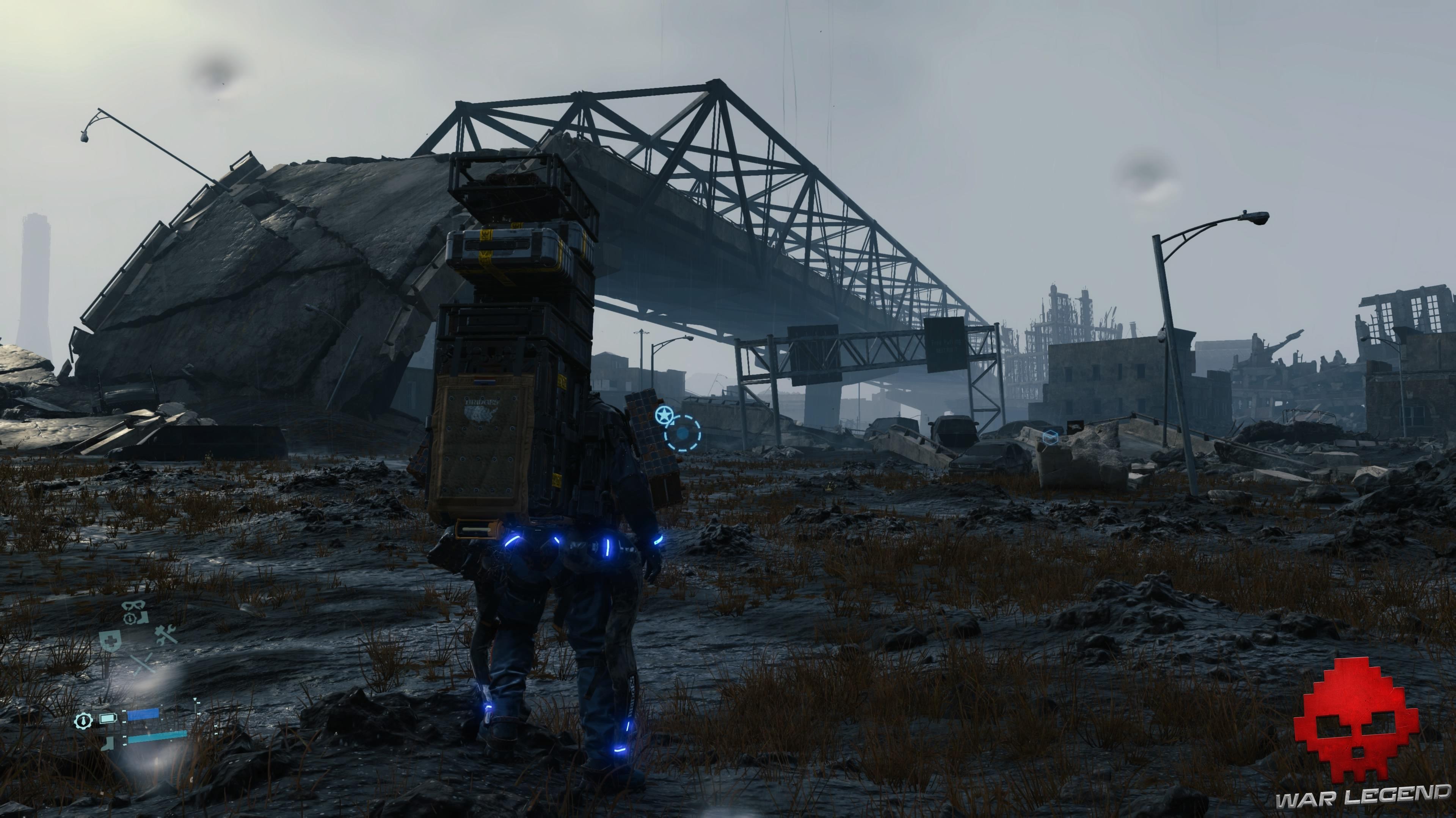 Test Death Stranding - pont détruit