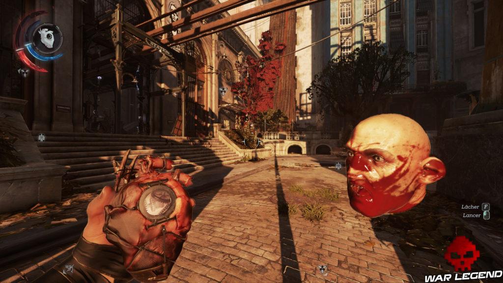 Test Dishonored 2 tête coupée et cœur mécanique - WarLegend