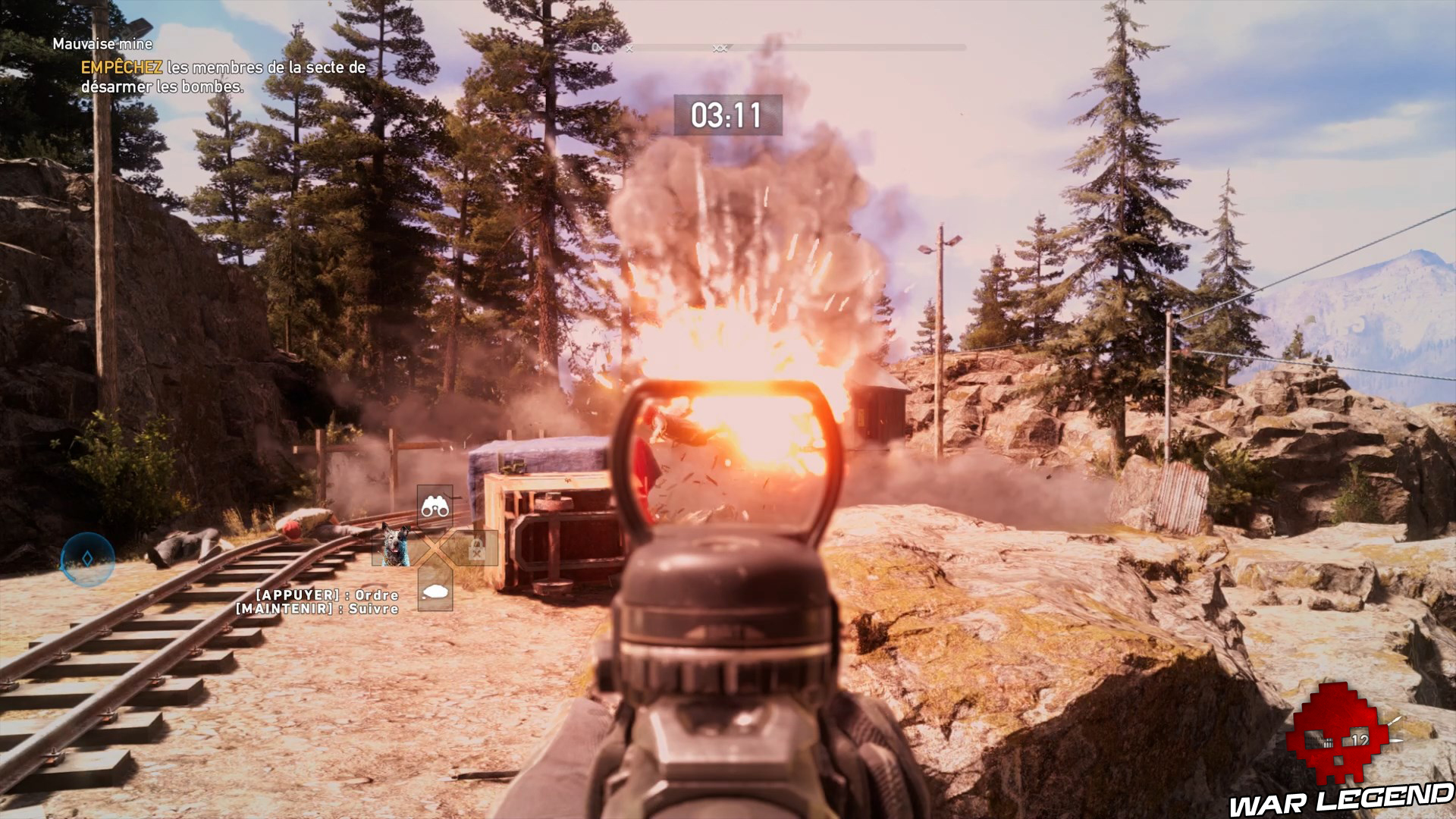 Test Far Cry 5 explosion