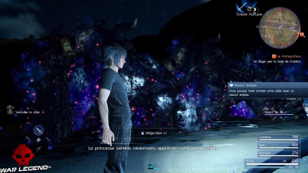 Test Final Fantasy XV démon derrière Noctis