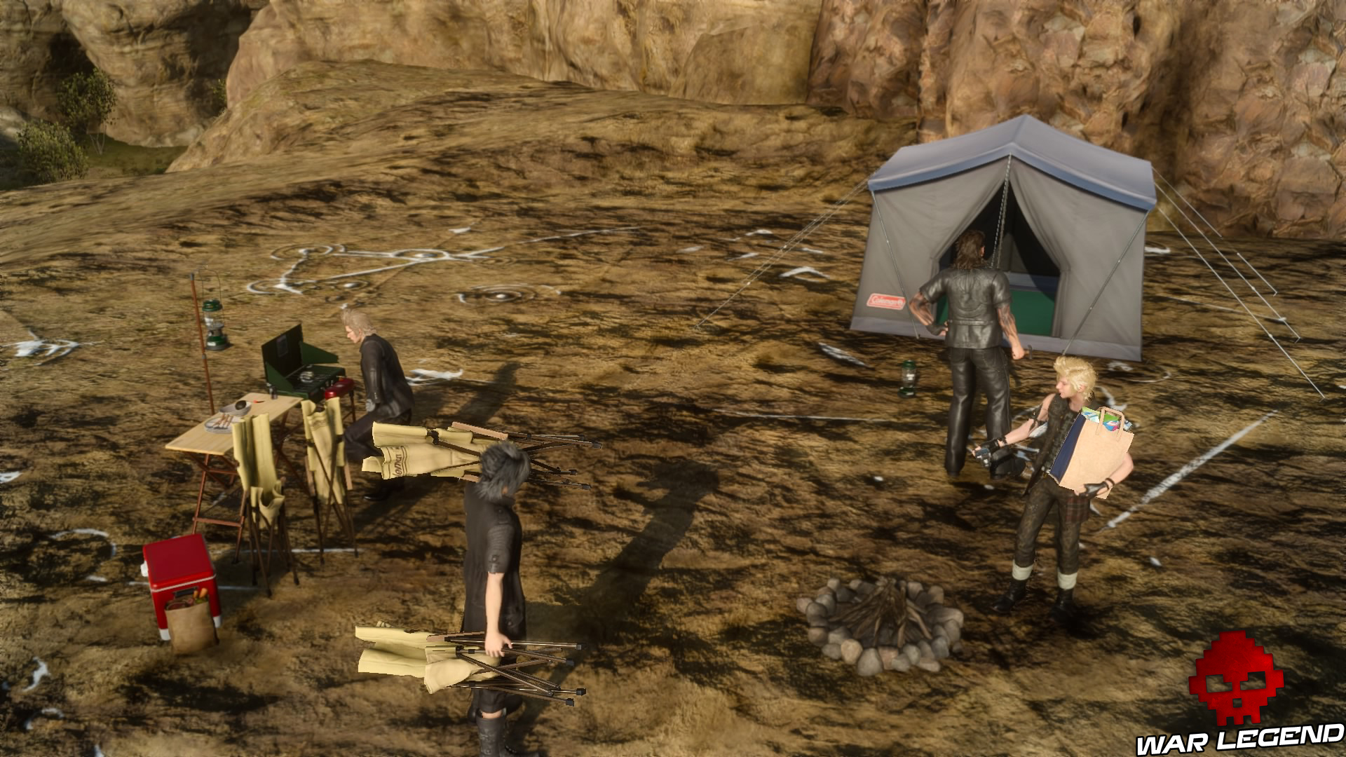 Test Final Fantasy XV campement