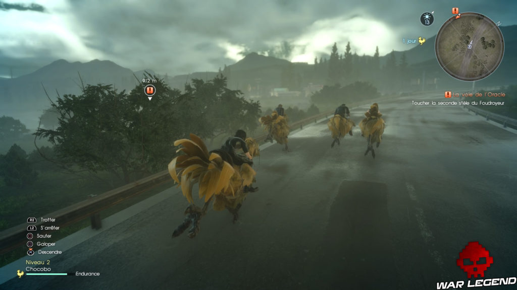 Test Final Fantasy XV chocobos sur route