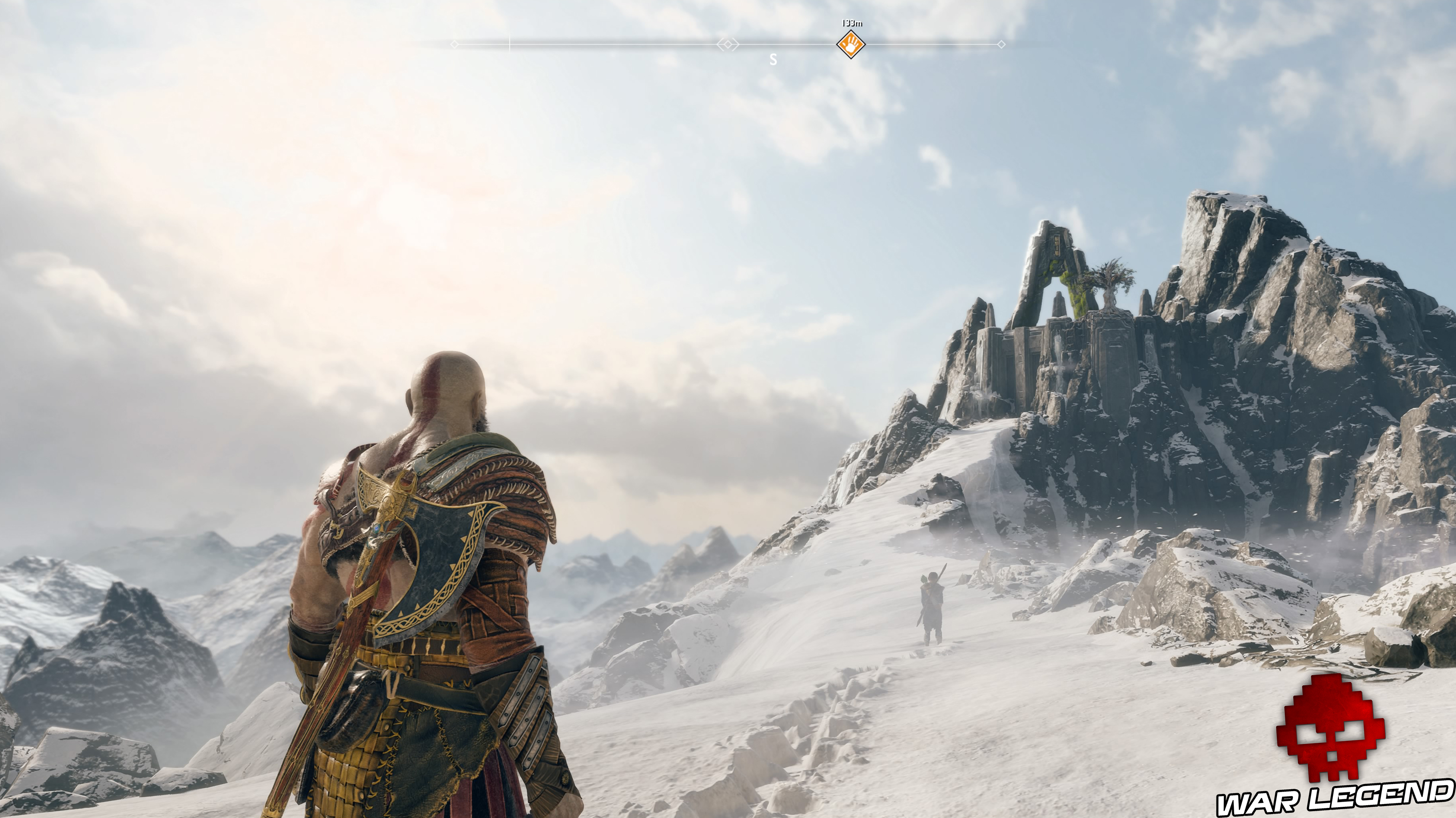 Test God of War sommet de montagne