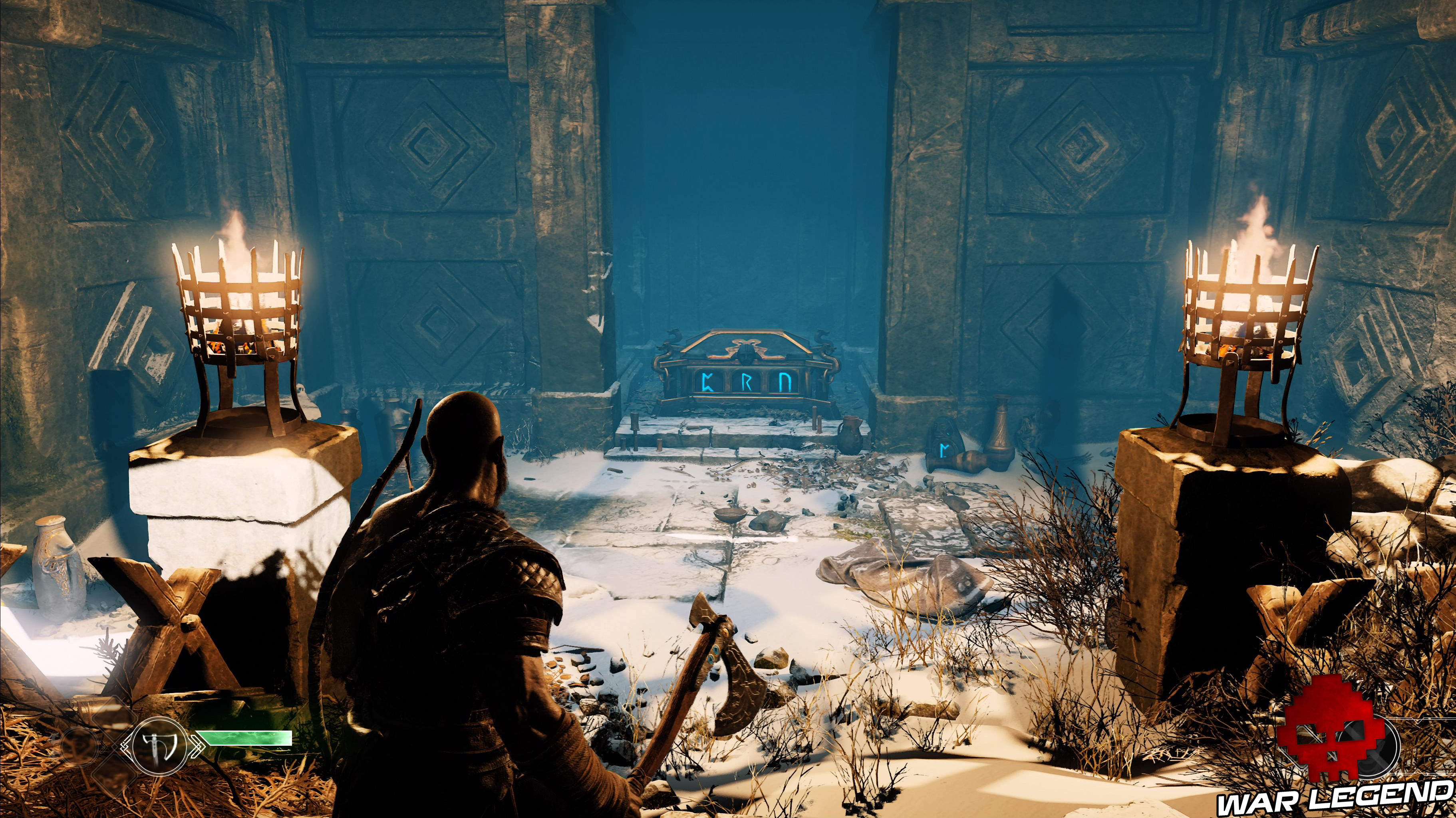 guide débutant god of war coffre runes