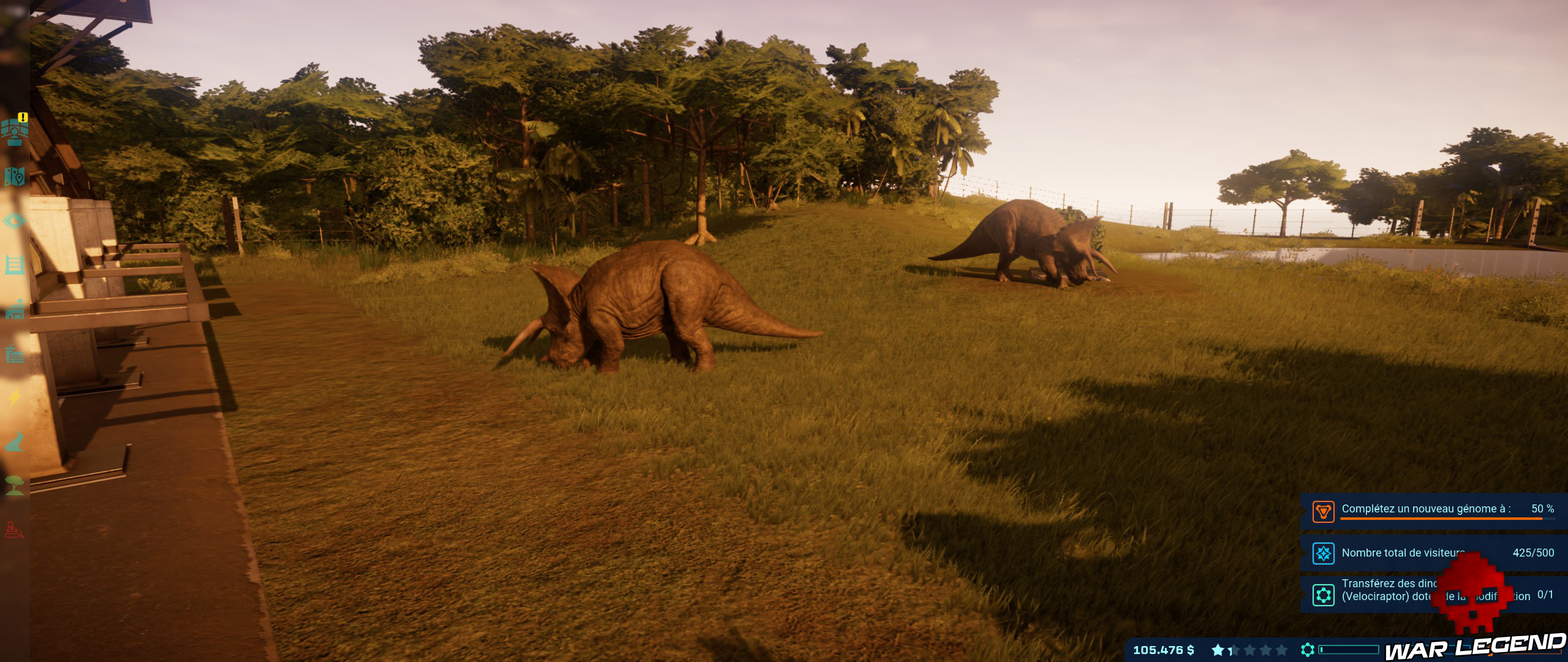 Test Jurassic World Evolution tricératops