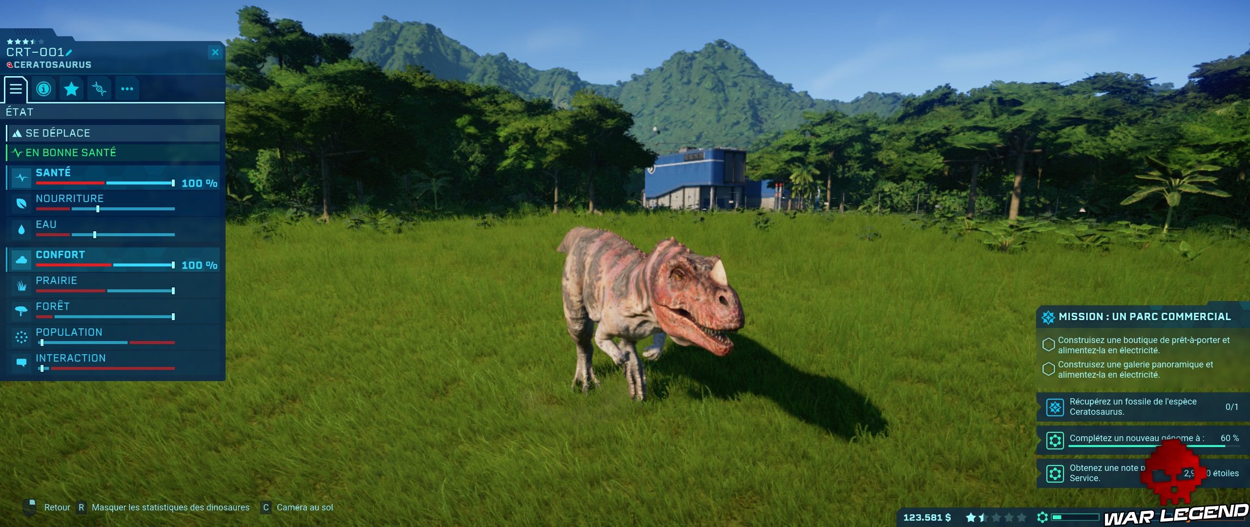Test Jurassic World Evolution carnivore