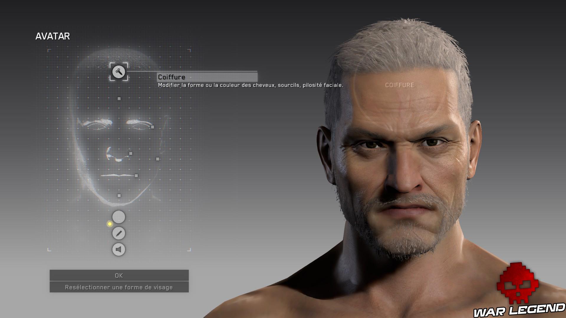 Test Metal Gear Survive éditeur de visage