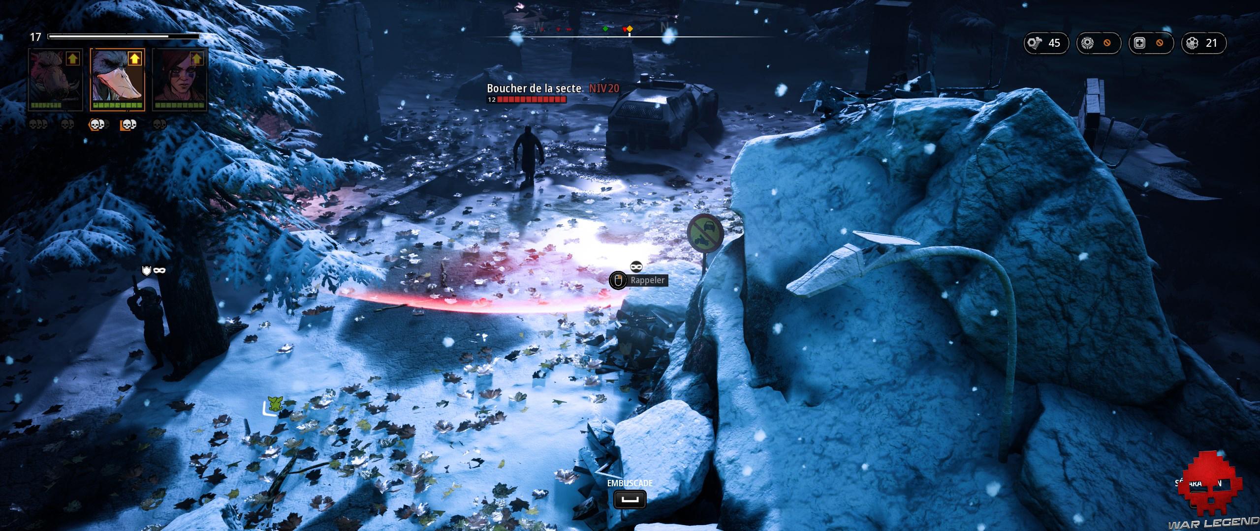 Test Mutant Year Zero Road to Eden - embuscade dans la neige