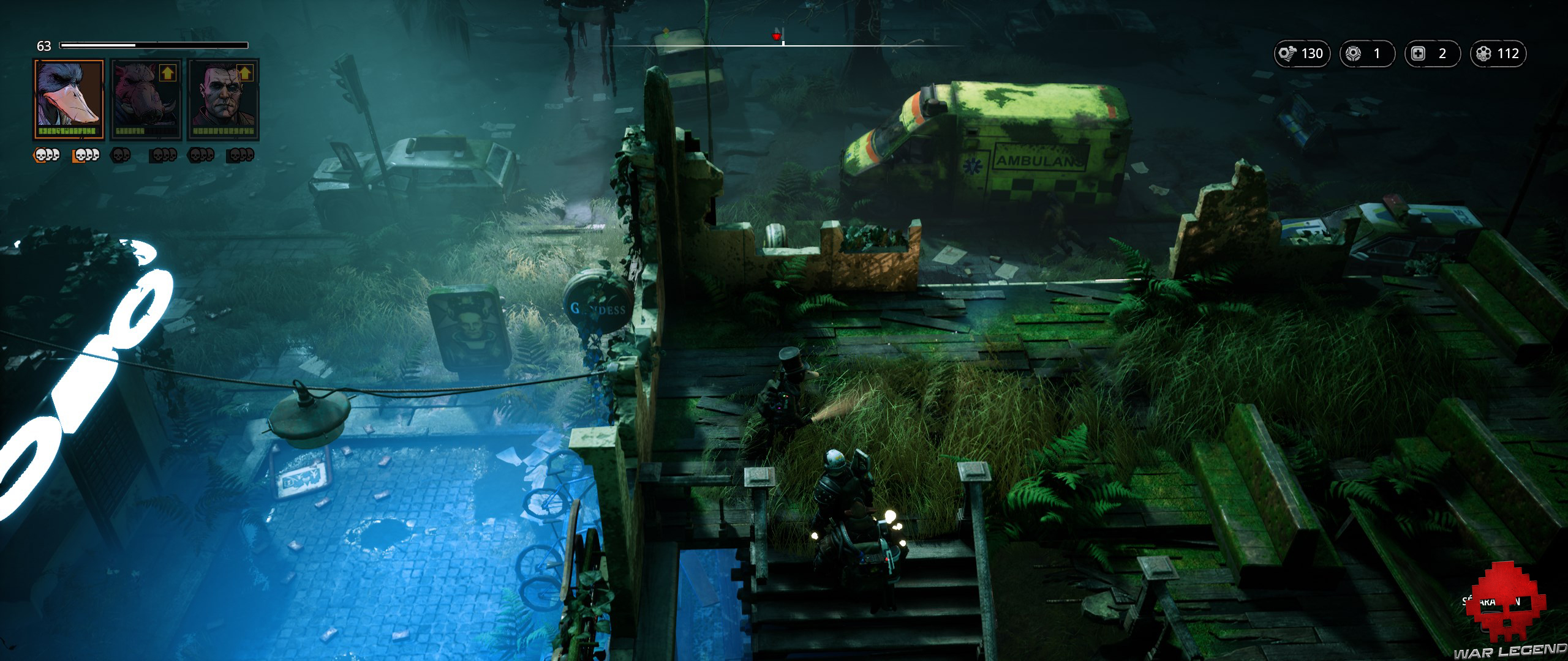 Test Mutant Year Zero Road to Eden - ville dévastée