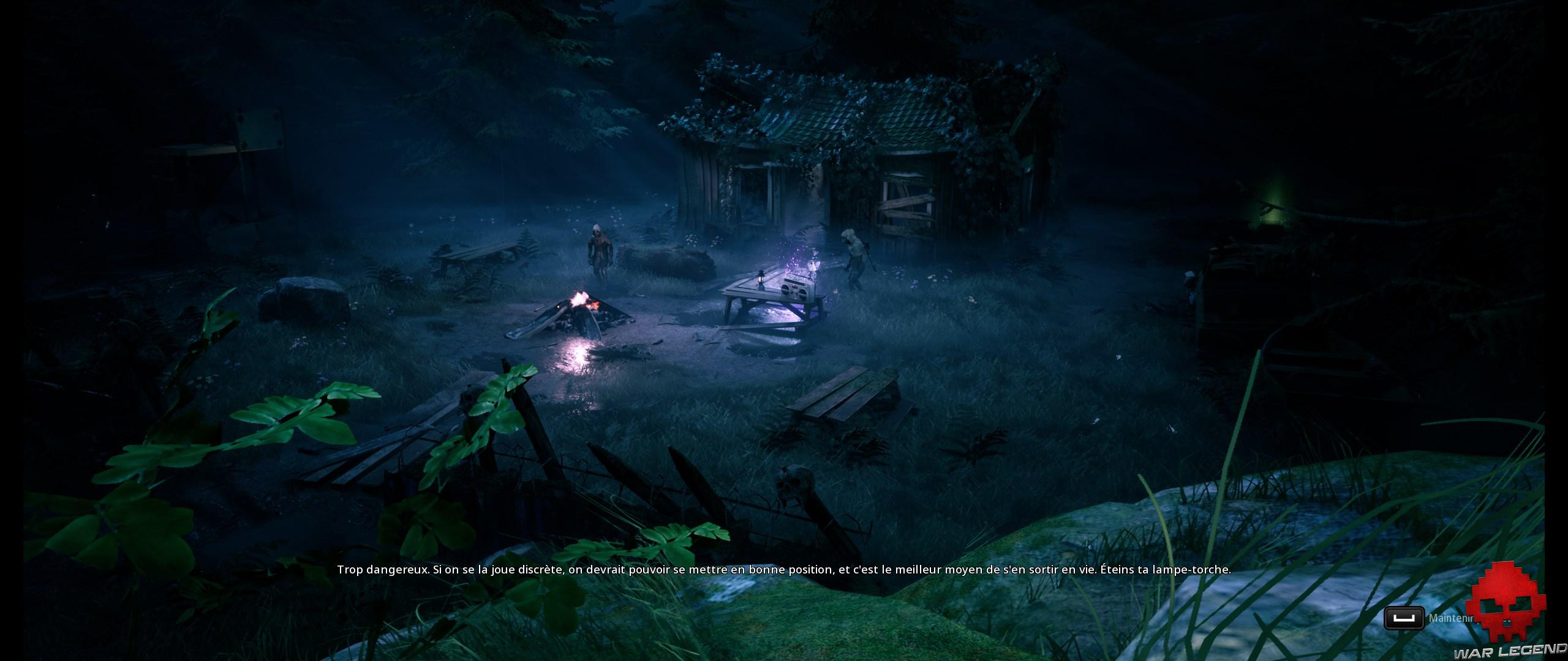 Test Mutant Year Zero Road to Eden - ennemis devant cabane