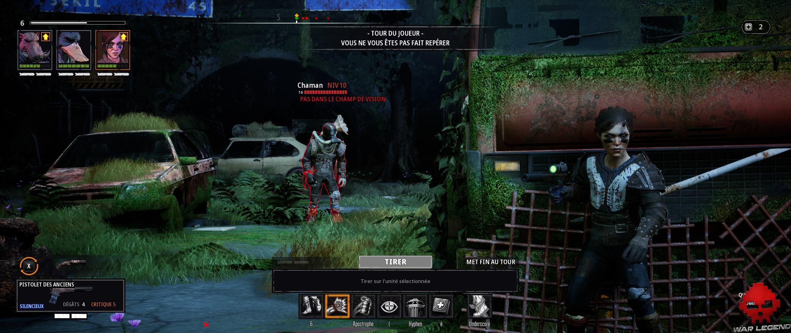 Test Mutant Year Zero Road to Eden - pas de champ de vision