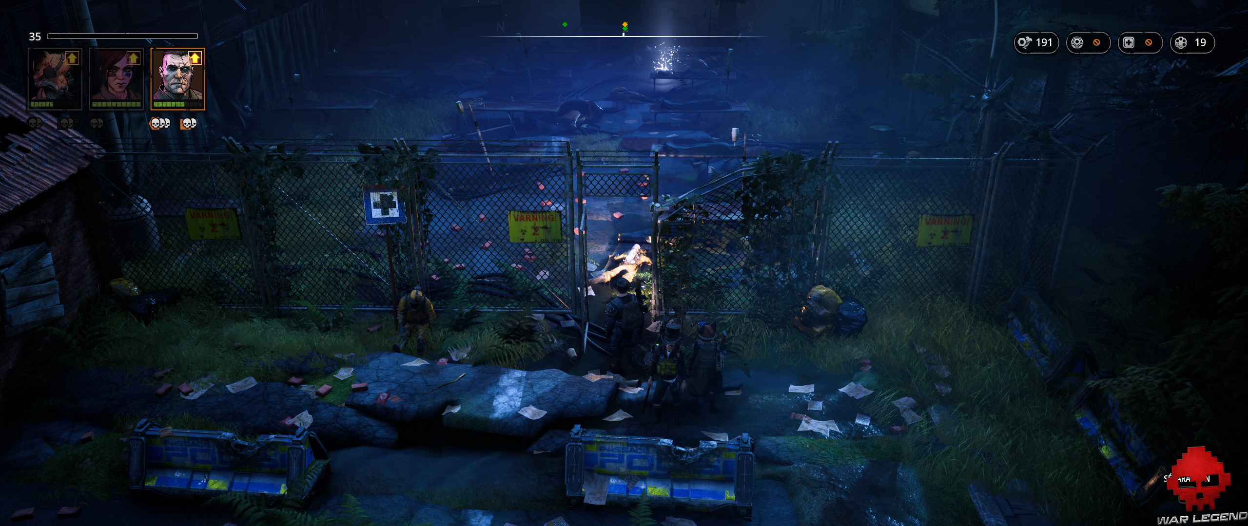 Test Mutant Year Zero Road to Eden - zone de quarantaine