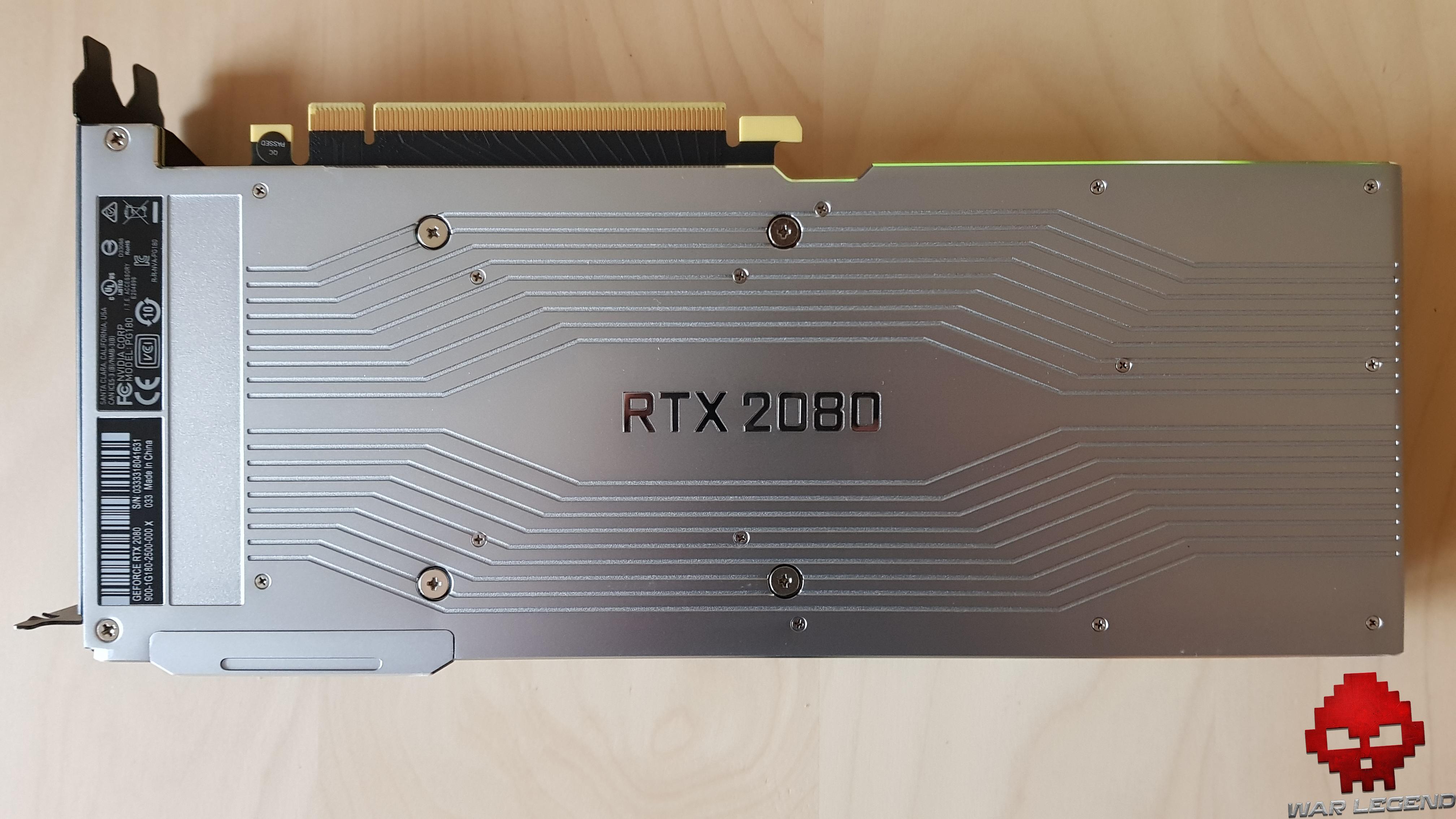 Test Nvidia GeForce RTX 2080 vue du dessus