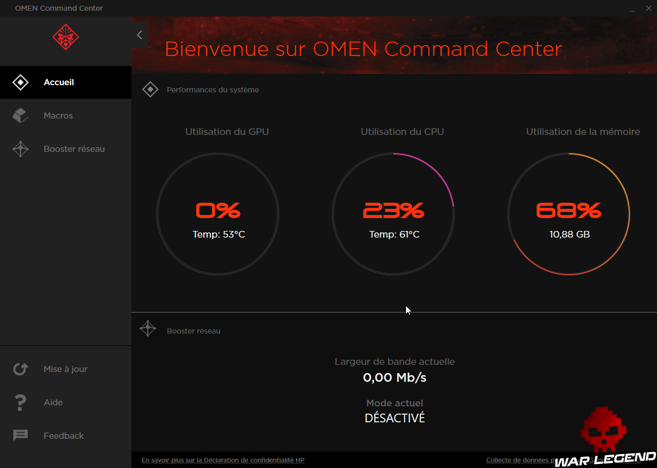 Test Omen 17 by HP Command center consos