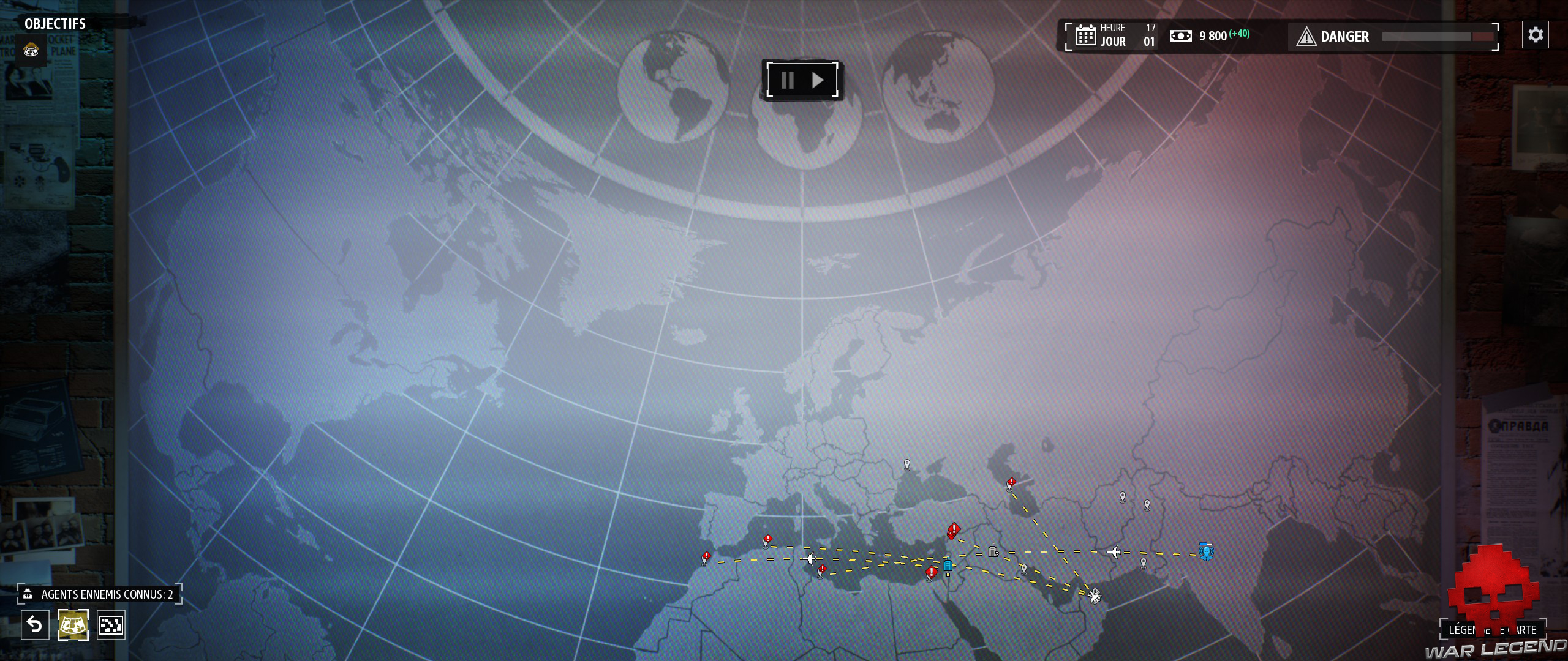 Test Phantom Doctrine mappemonde avec villes