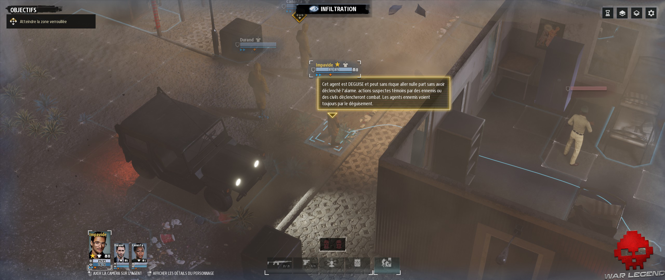 Test Phantom Doctrine texte avertissement action suspecte